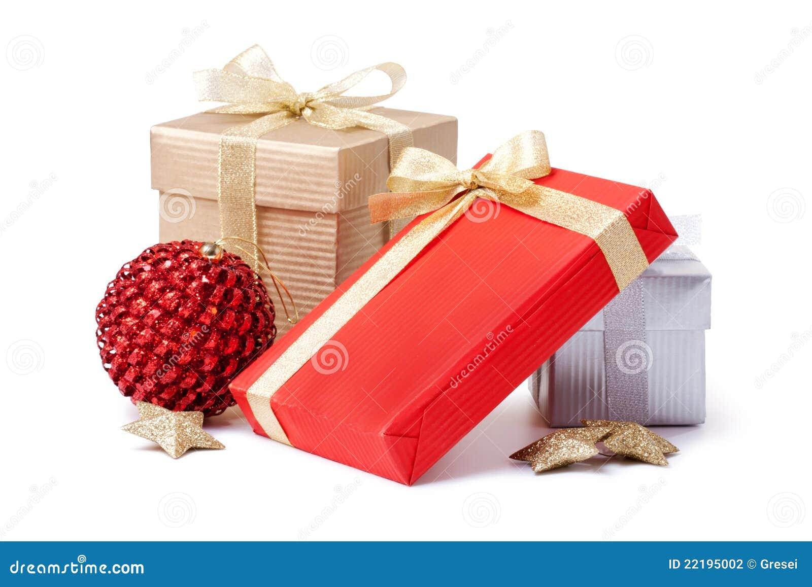 Χριστούγεννα δώρων κιβωτί&om