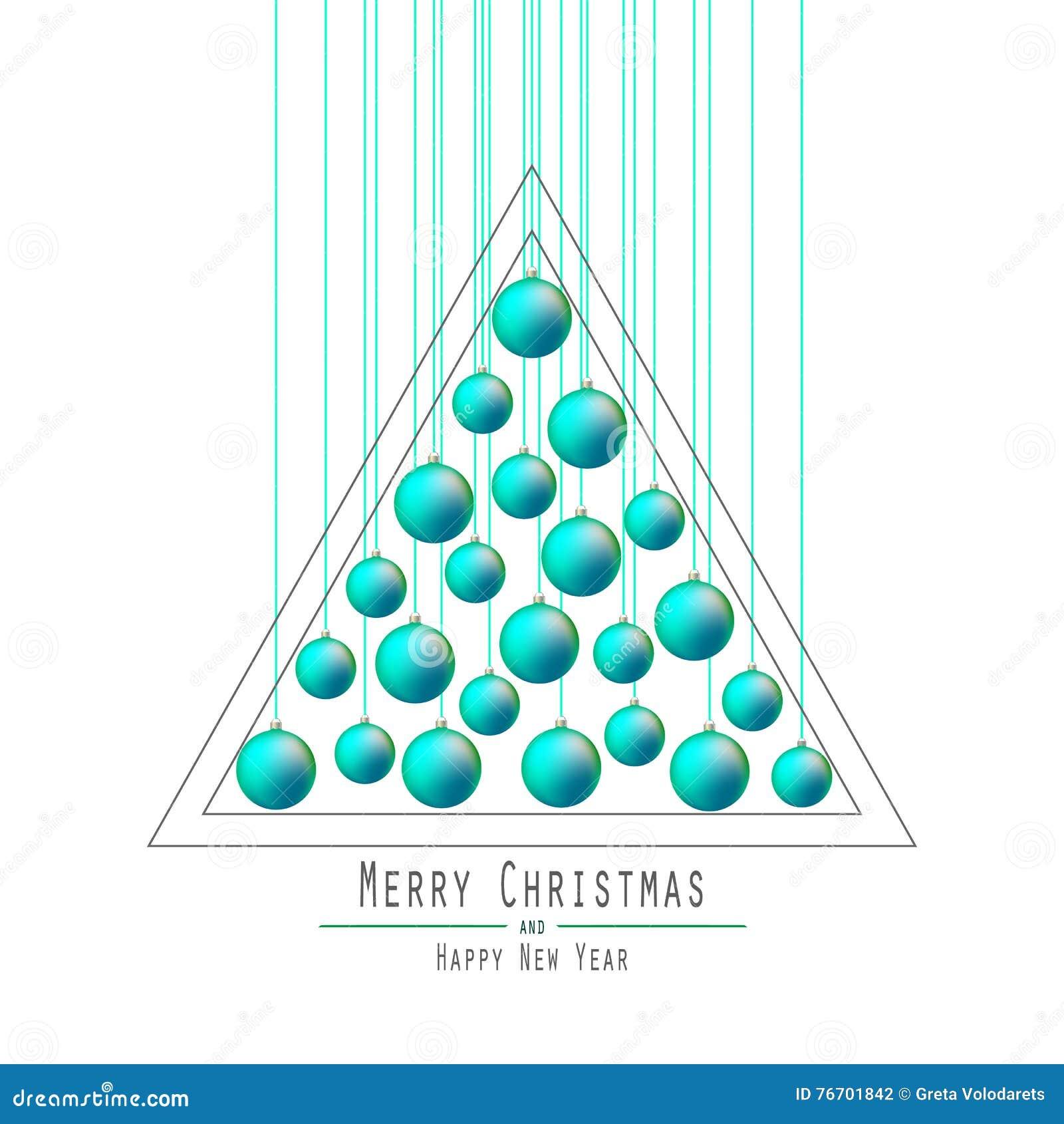 Χριστούγεννα η διανυσματική έκδοση δέντρων χαρτοφυλακίων μου Παράδοση των σφαιρών Πράσινος