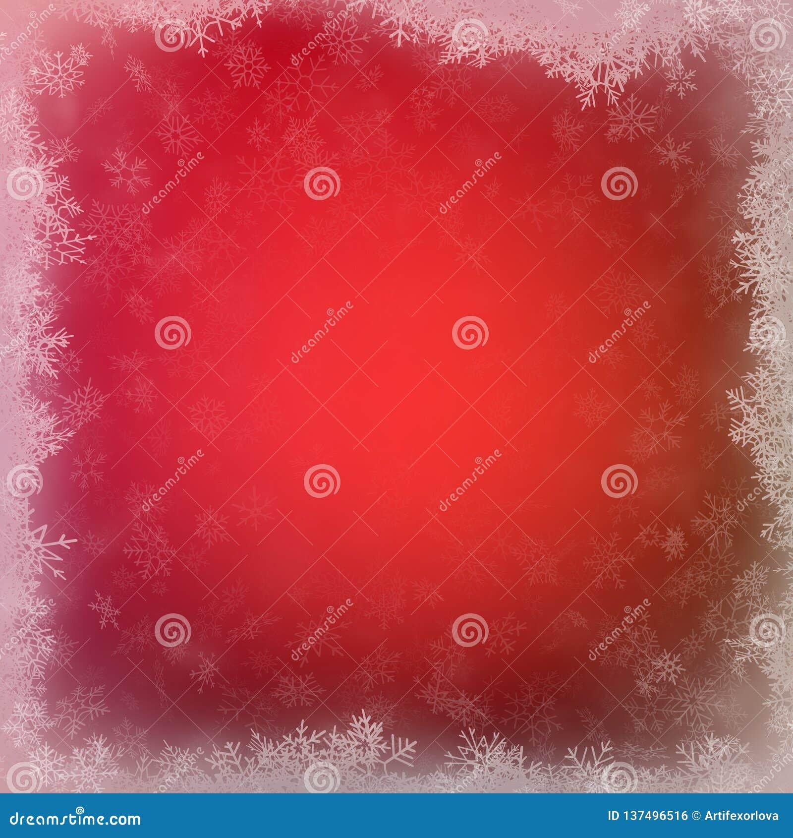 Χριστούγεννα και νέο πρότυπο έτους με snowflakes στο κόκκινο υπόβαθρο 10 eps