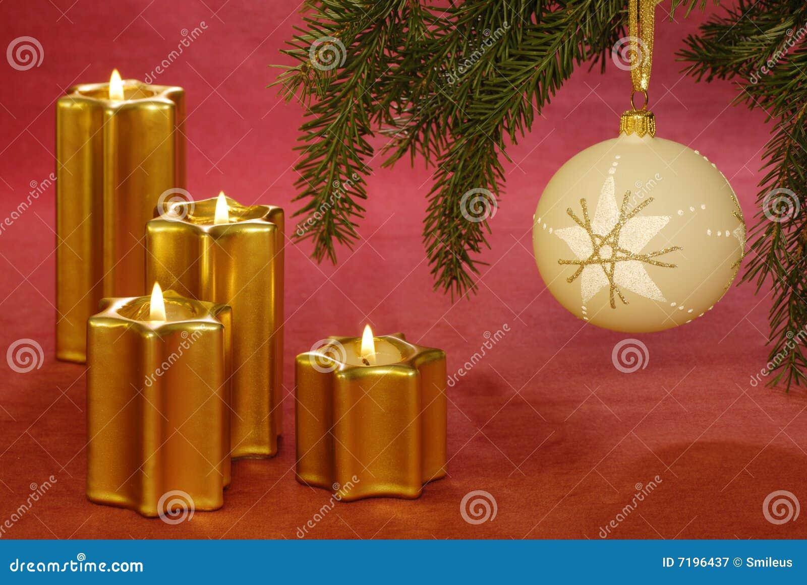 Χριστούγεννα κεριών μπιχλιμπιδιών