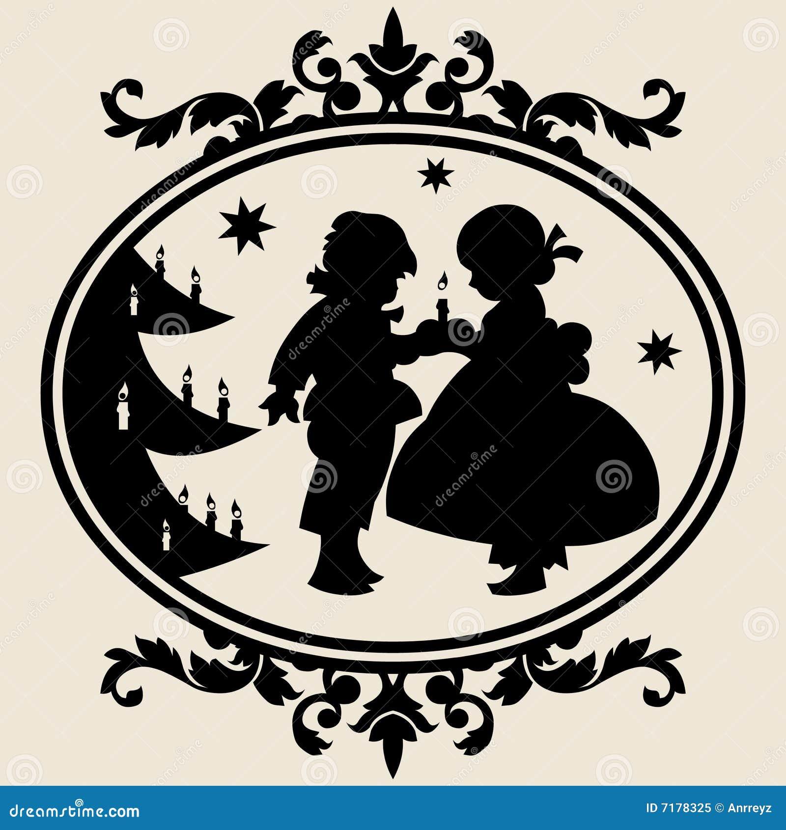Χριστούγεννα σκιαγραφιώ&n
