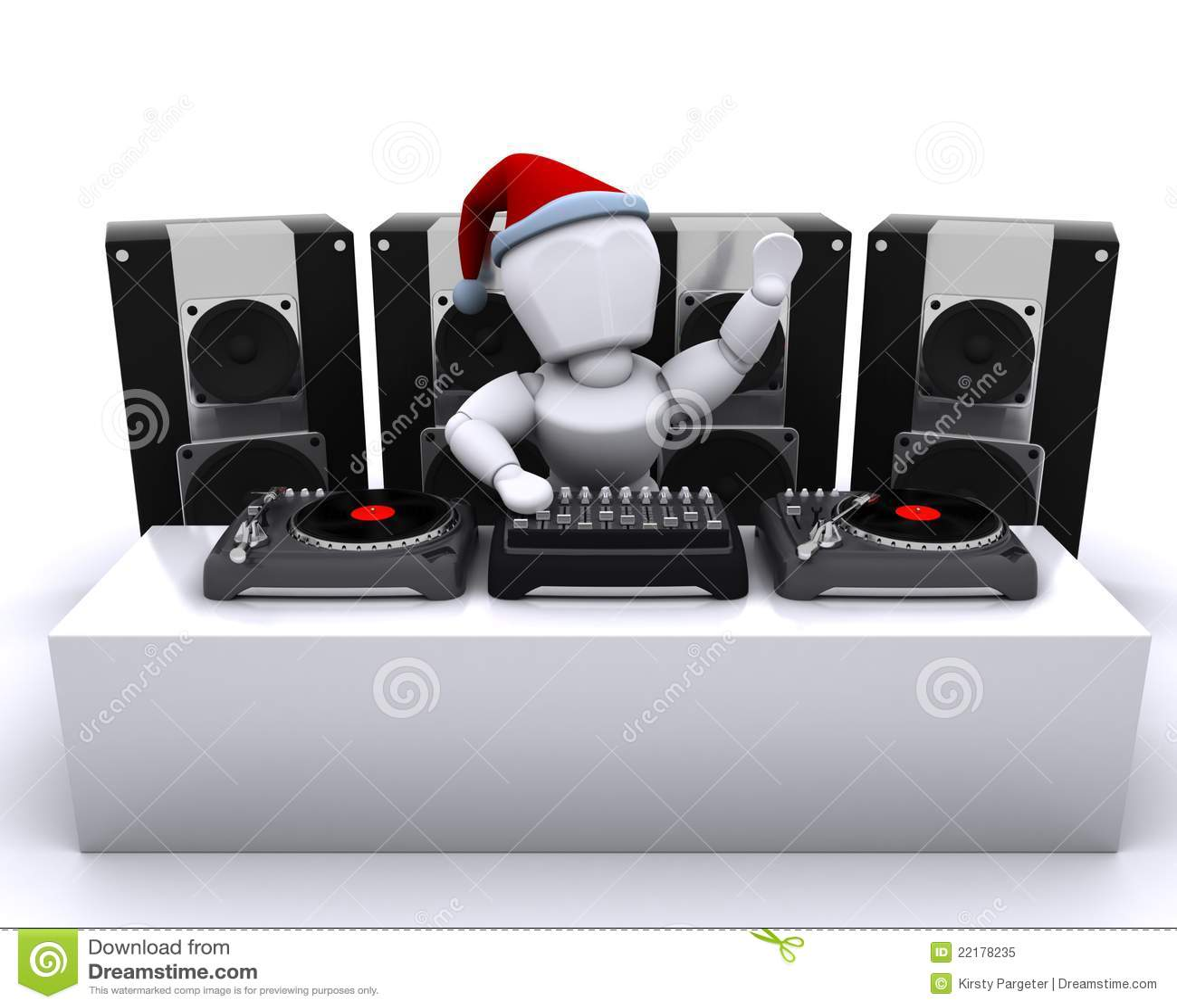 Χριστούγεννα DJ που αναμι&gamma
