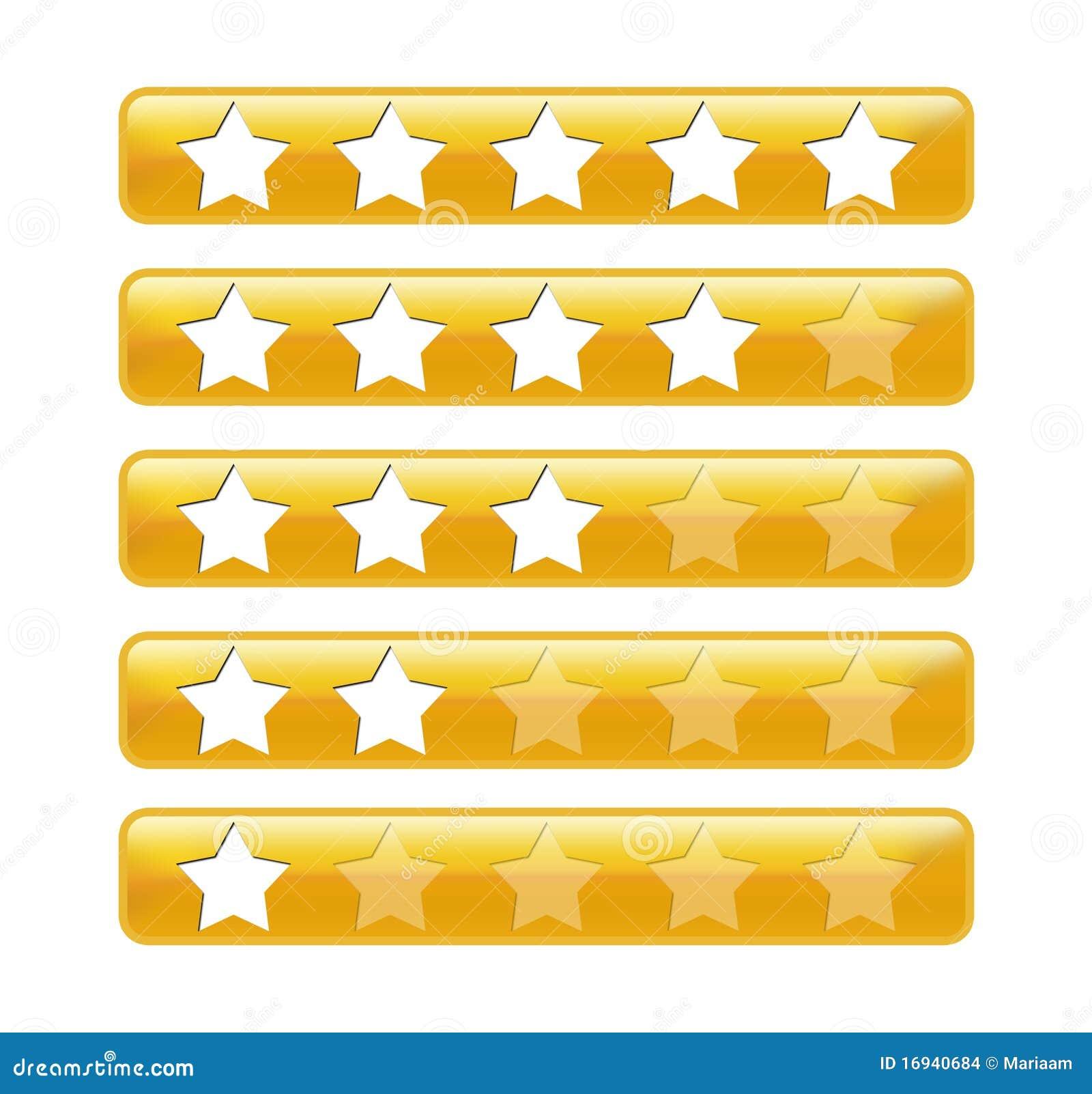 χρυσά αστέρια εκτίμησης ράβ