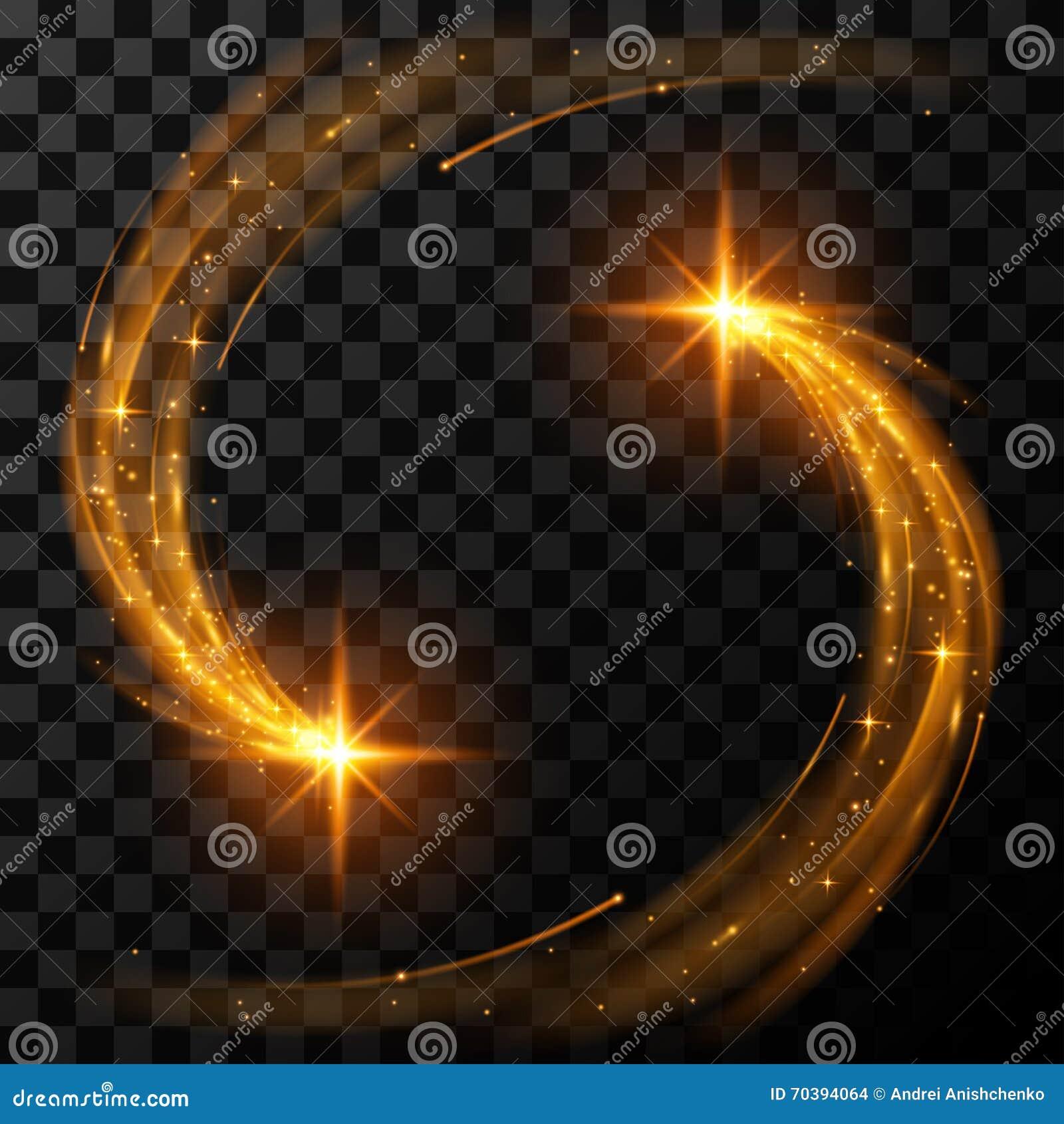 Χρυσά ελαφριά αστέρια