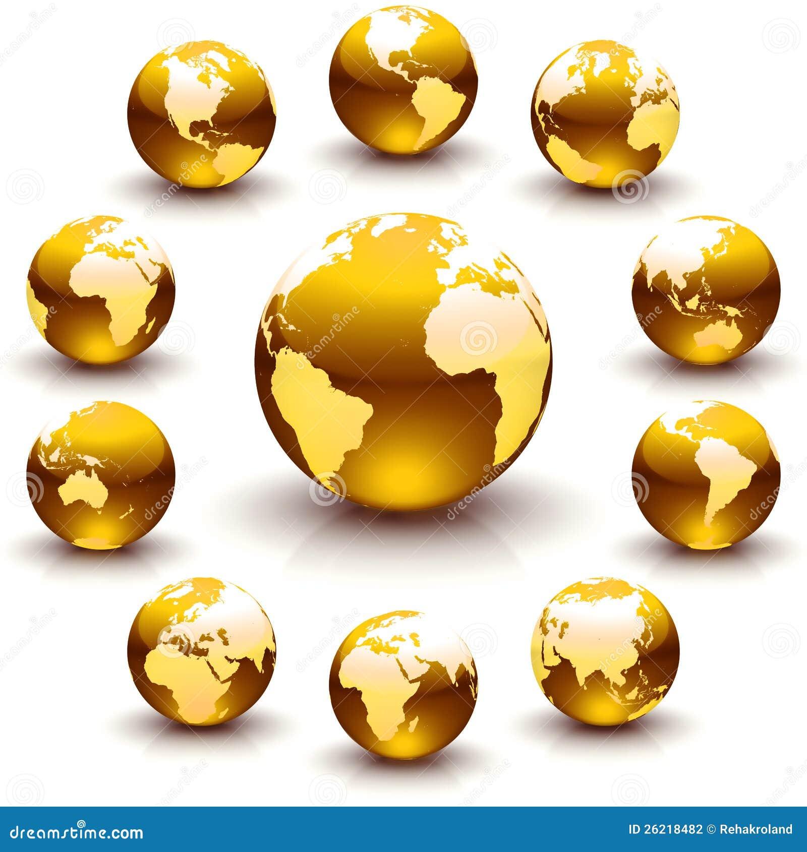 Χρυσά μάρμαρα σφαιρών