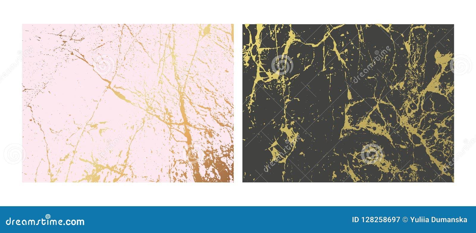 Χρυσά μαρμάρινα μίμησης υπόβαθρα καθορισμένα Αφηρημένη κάλυψη με τον παλαιό βράχο, σύσταση πετρών