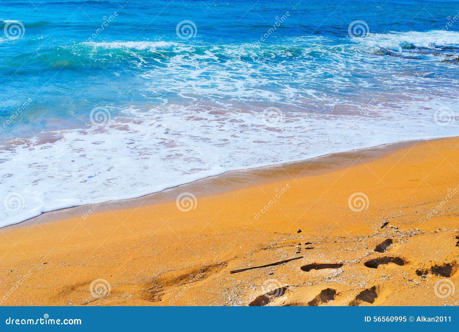 Download Χρυσή ακτή και μπλε θάλασσα Στοκ Εικόνα - εικόνα από ιταλία, φυσικός: 56560995