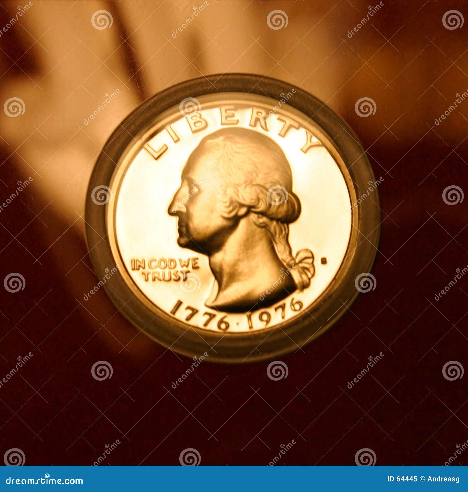 Download χρυσή Ουάσιγκτον στοκ εικόνα. εικόνα από finances, νόμισμα - 64445