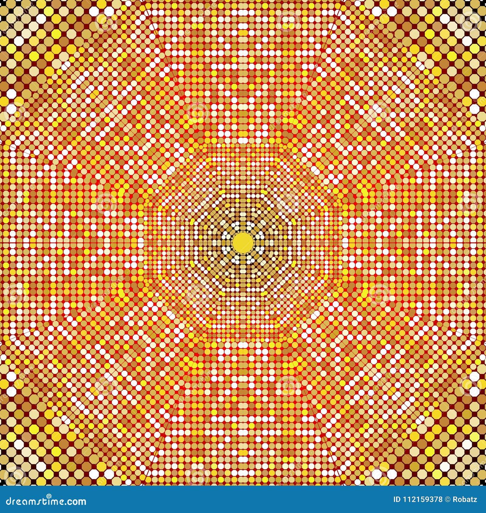 Χρυσή σύσταση σχεδίων με τα χρυσά μωσαϊκά στο βυζαντινό ύφος/το παλαιά μωσαϊκό/τα κεραμίδια μωσαϊκών στο παλαιό ύφος Σύσταση κυβό