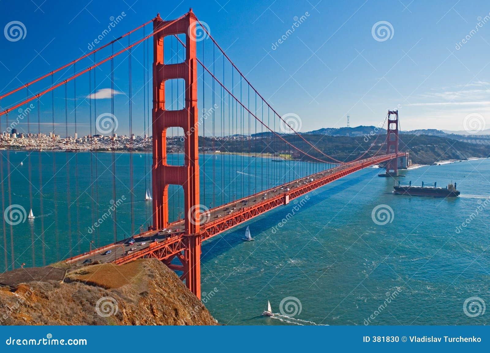 χρυσή όψη πυλών γεφυρών