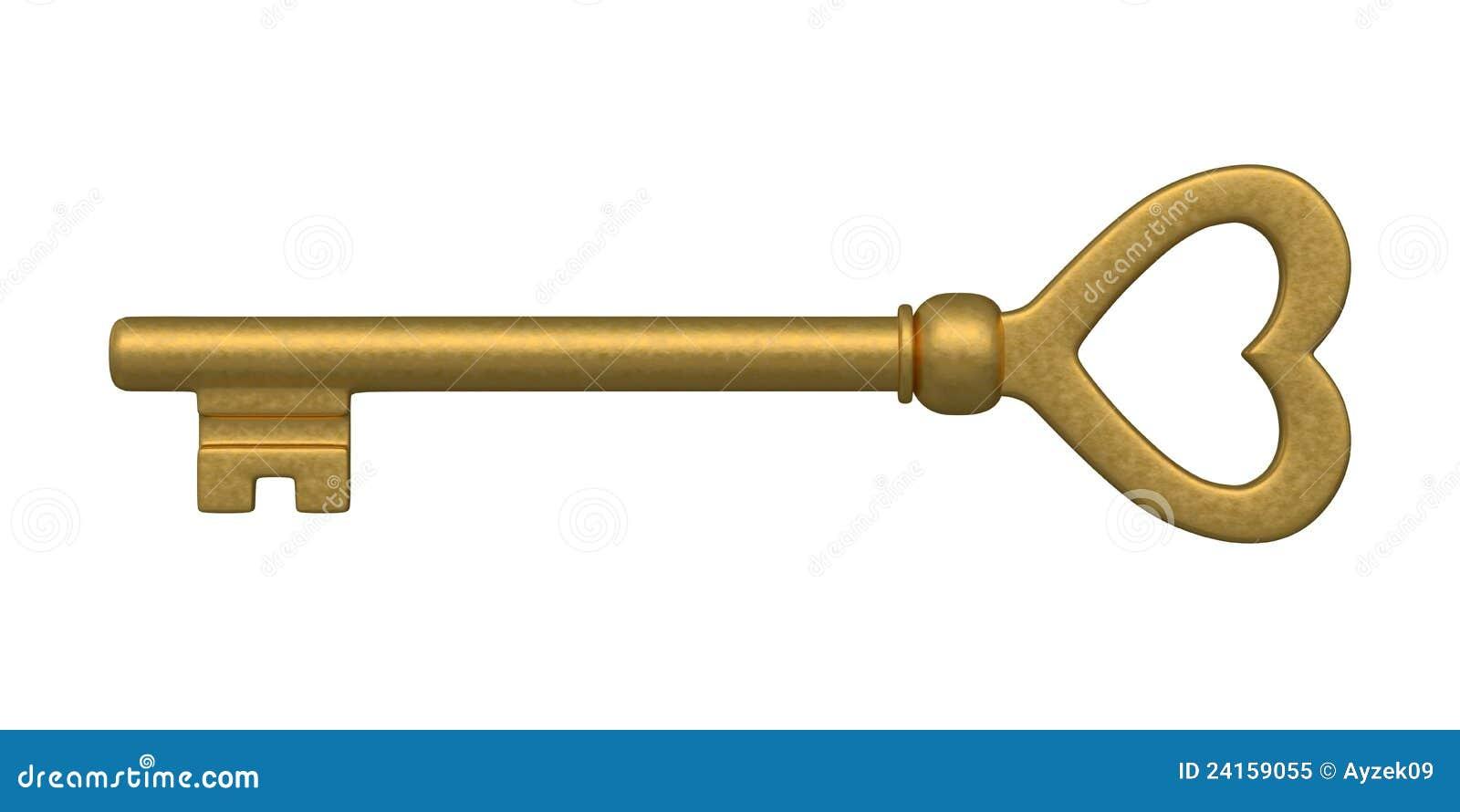 χρυσός διαμορφωμένος πλήκτρο σκελετός καρδιών