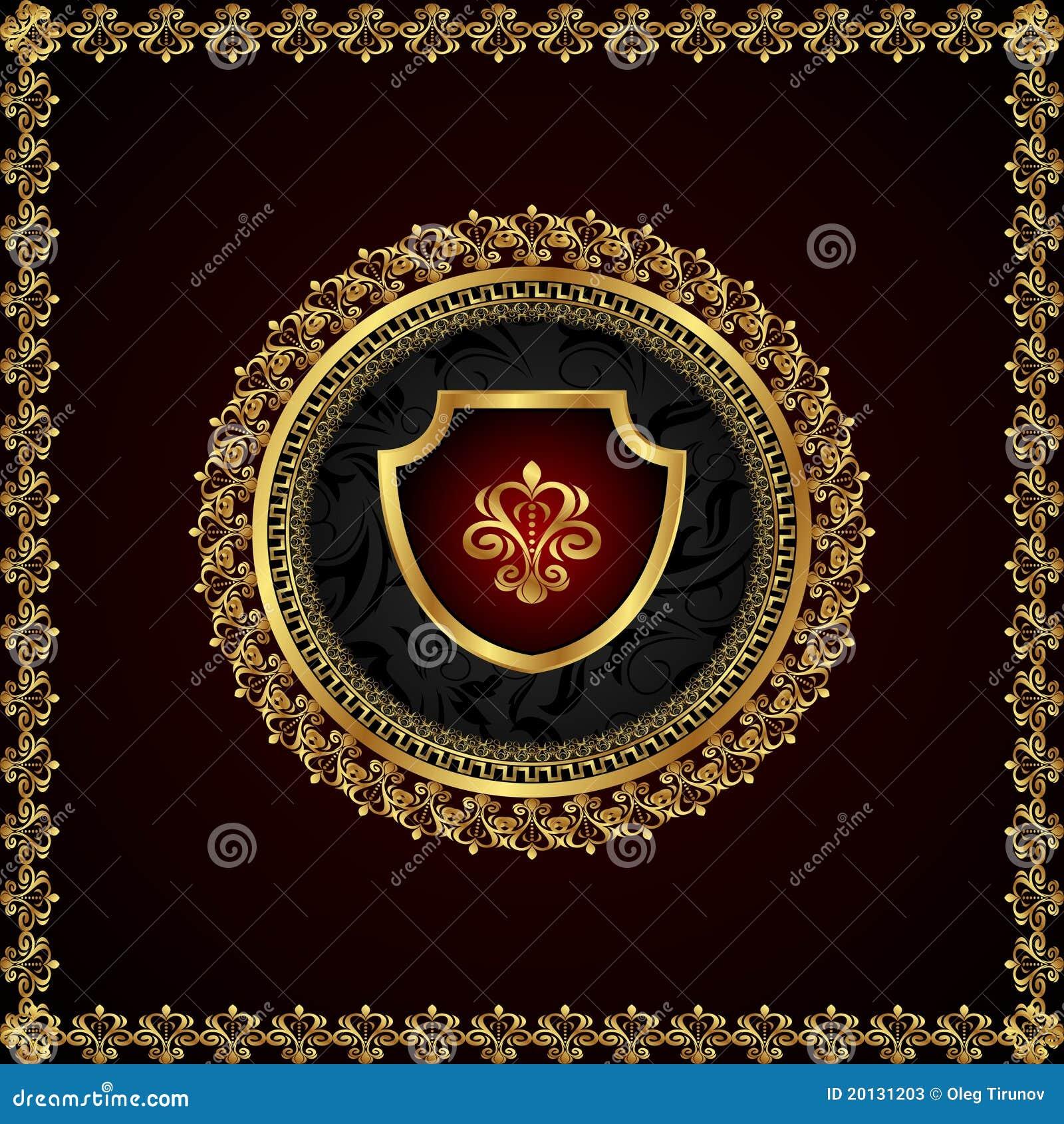 χρυσός εραλδικός πλαισί&o