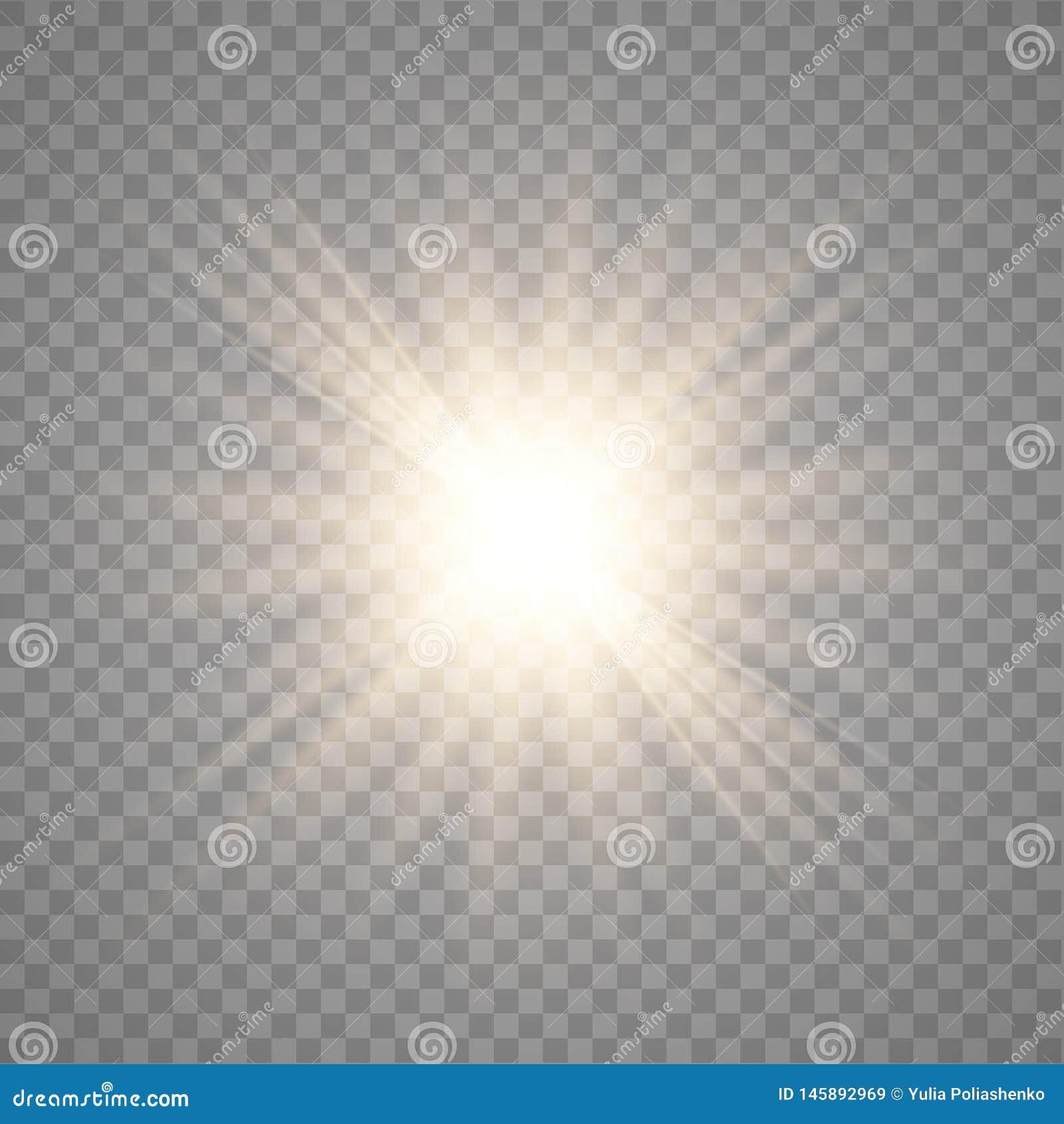 Χρυσός λάμποντας διανυσματικός ήλιος