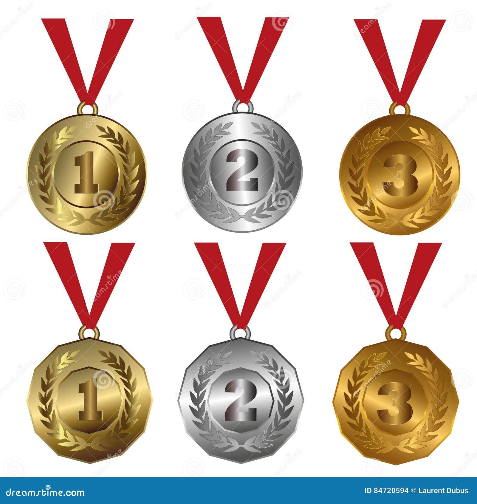 Χρυσός μεταλλίων βραβείων, ασήμι και σφραγίδες ή μετάλλια χαλκού