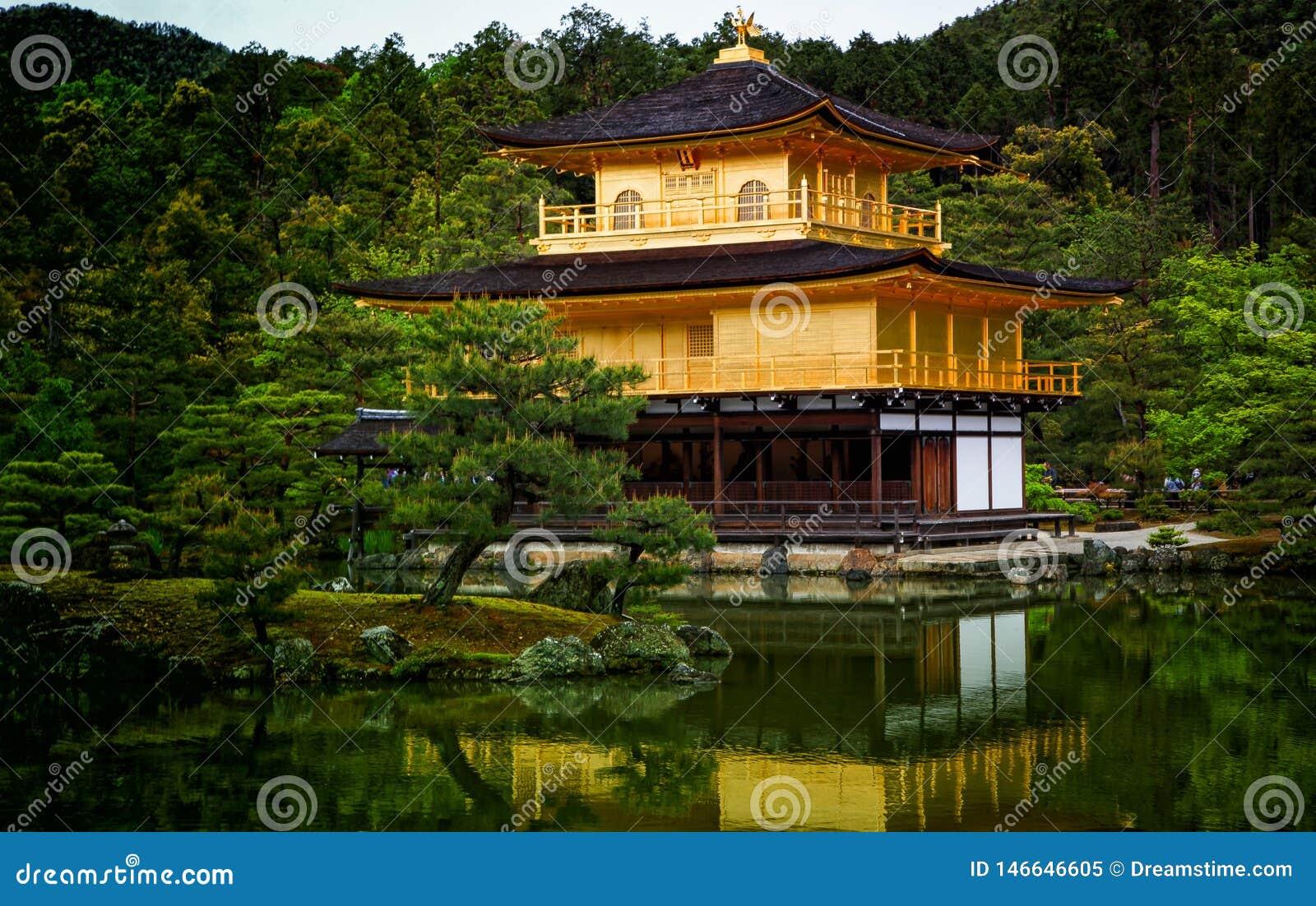 Χρυσός ναός του Κιότο Ιαπωνία Kinkaku ji