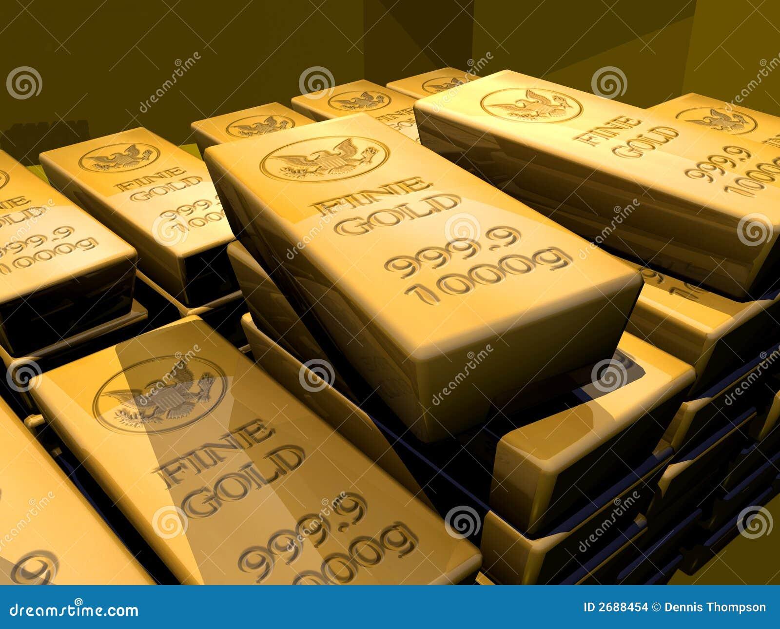 χρυσός ράβδου ράβδων