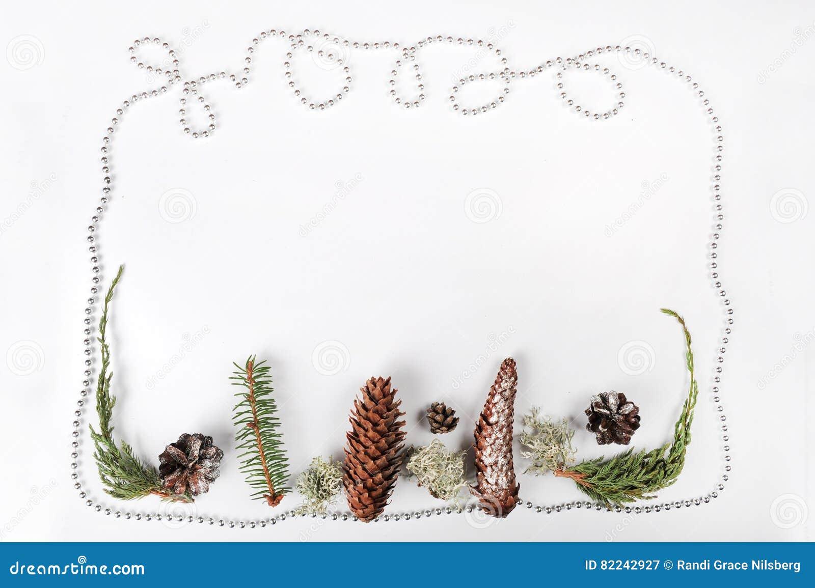 χρυσό απομονωμένο λευκό κορδελλών δώρων Χριστουγέννων κιβωτίων συνόρων ανασκόπησης