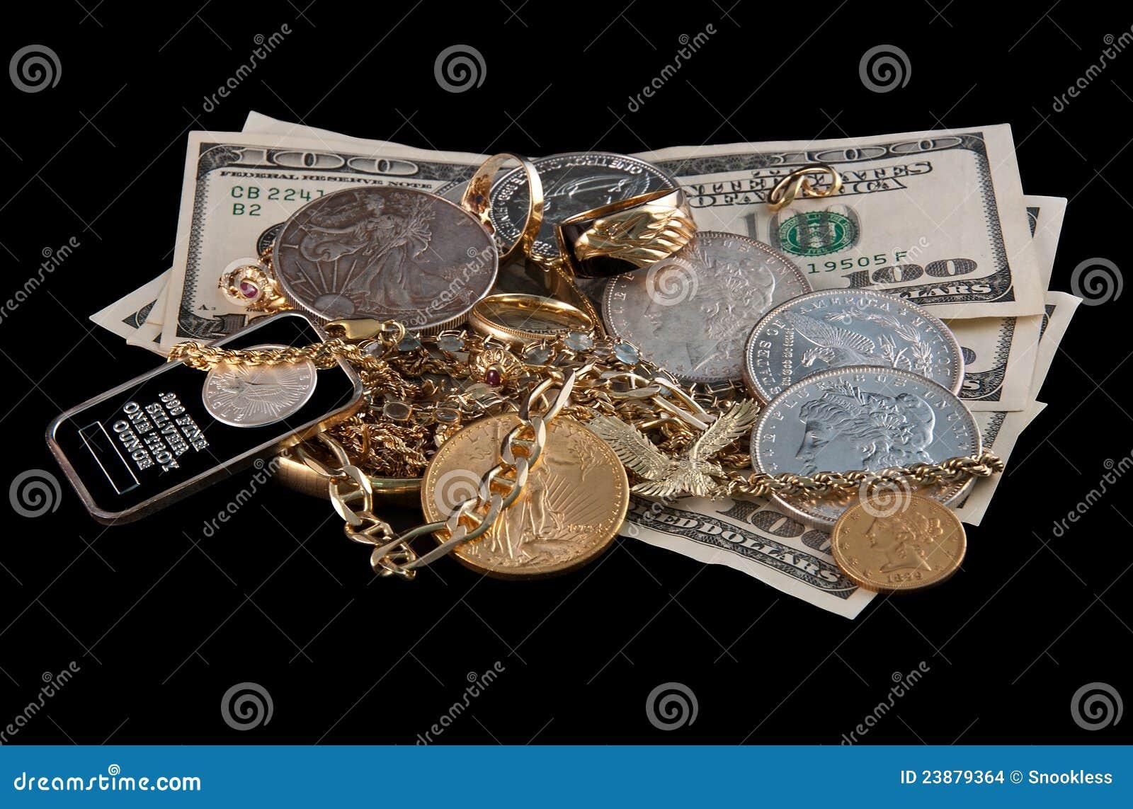 χρυσό ασήμι μετρητών