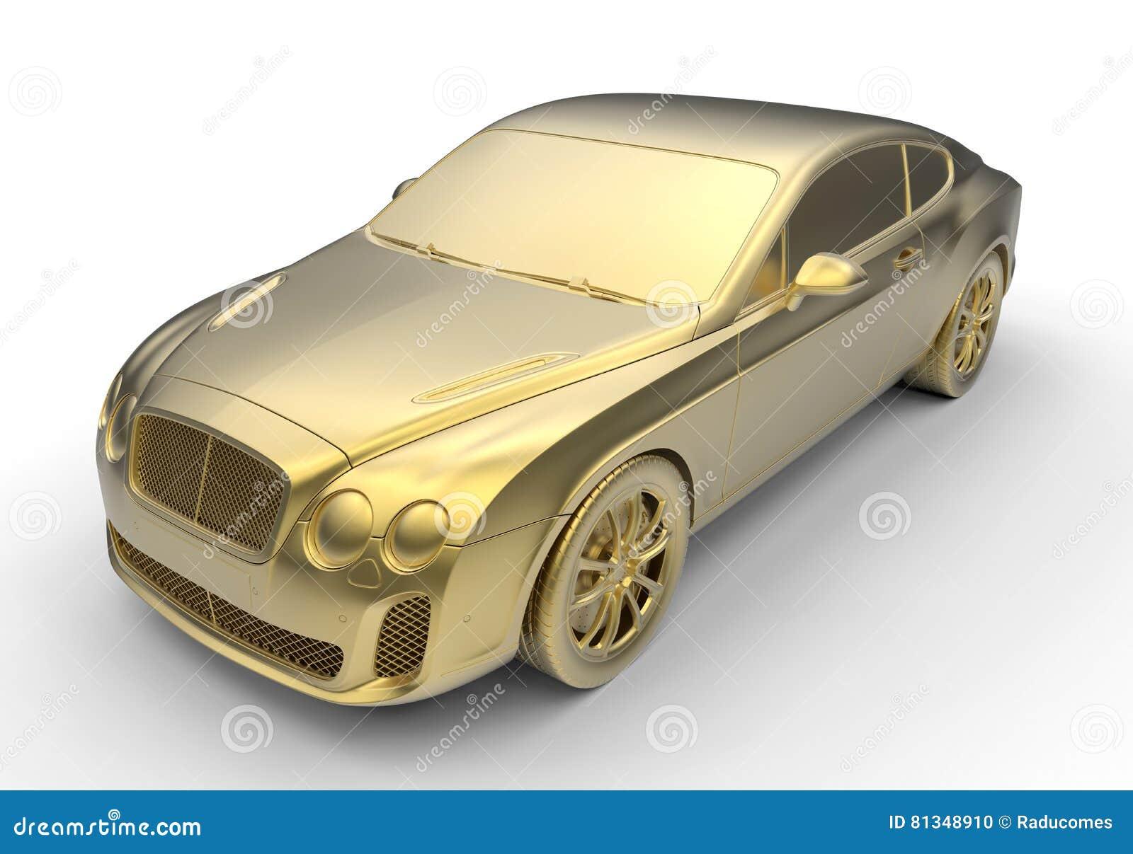 Χρυσό αυτοκίνητο πολυτέλειας