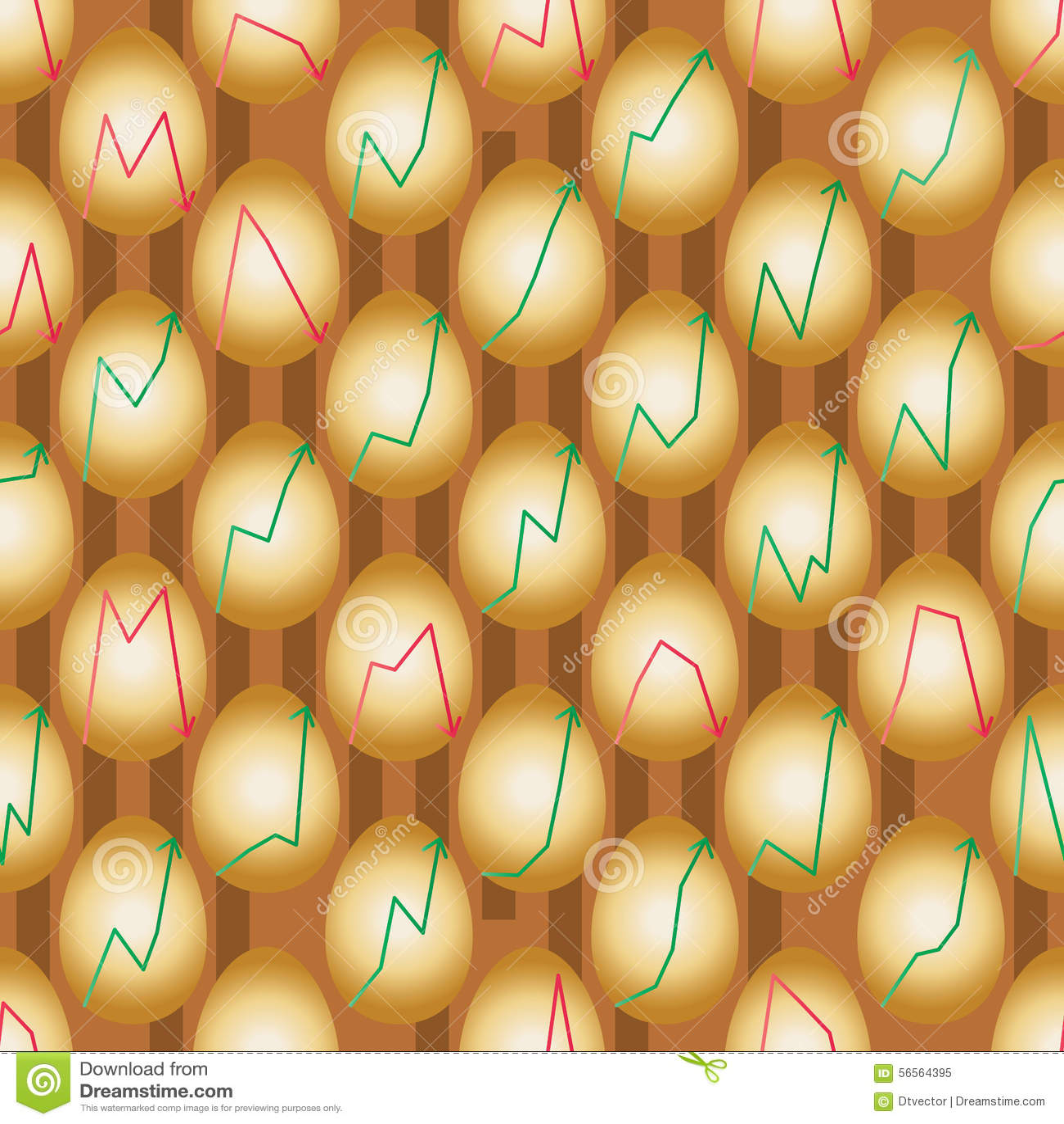 Download Χρυσό βέλος αυγών επάνω κάτω από το άνευ ραφής σχέδιο Διανυσματική απεικόνιση - εικονογραφία από αδελφών, χρηματοδότηση: 56564395
