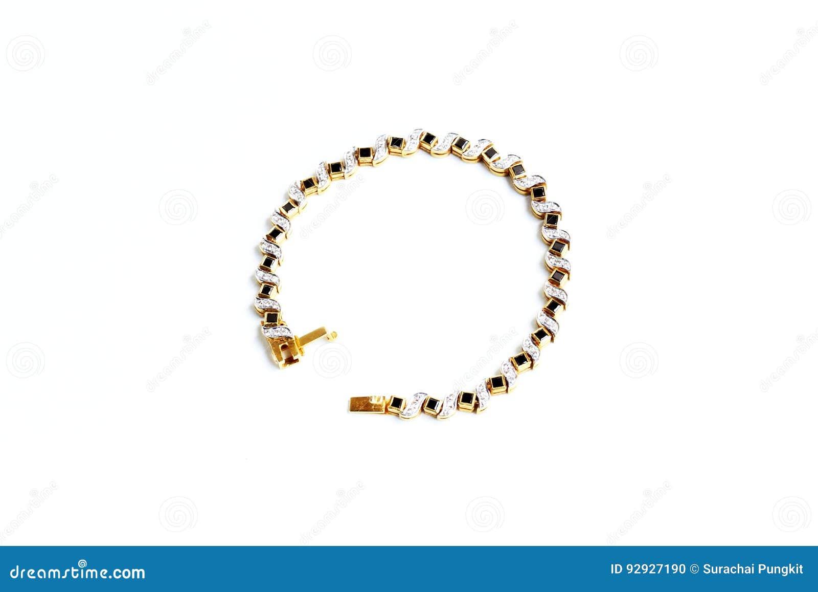 Χρυσό βραχιόλι με τον πολύτιμο λίθο Στοκ Εικόνες - εικόνα από ασήμι ... f574b8b41c9