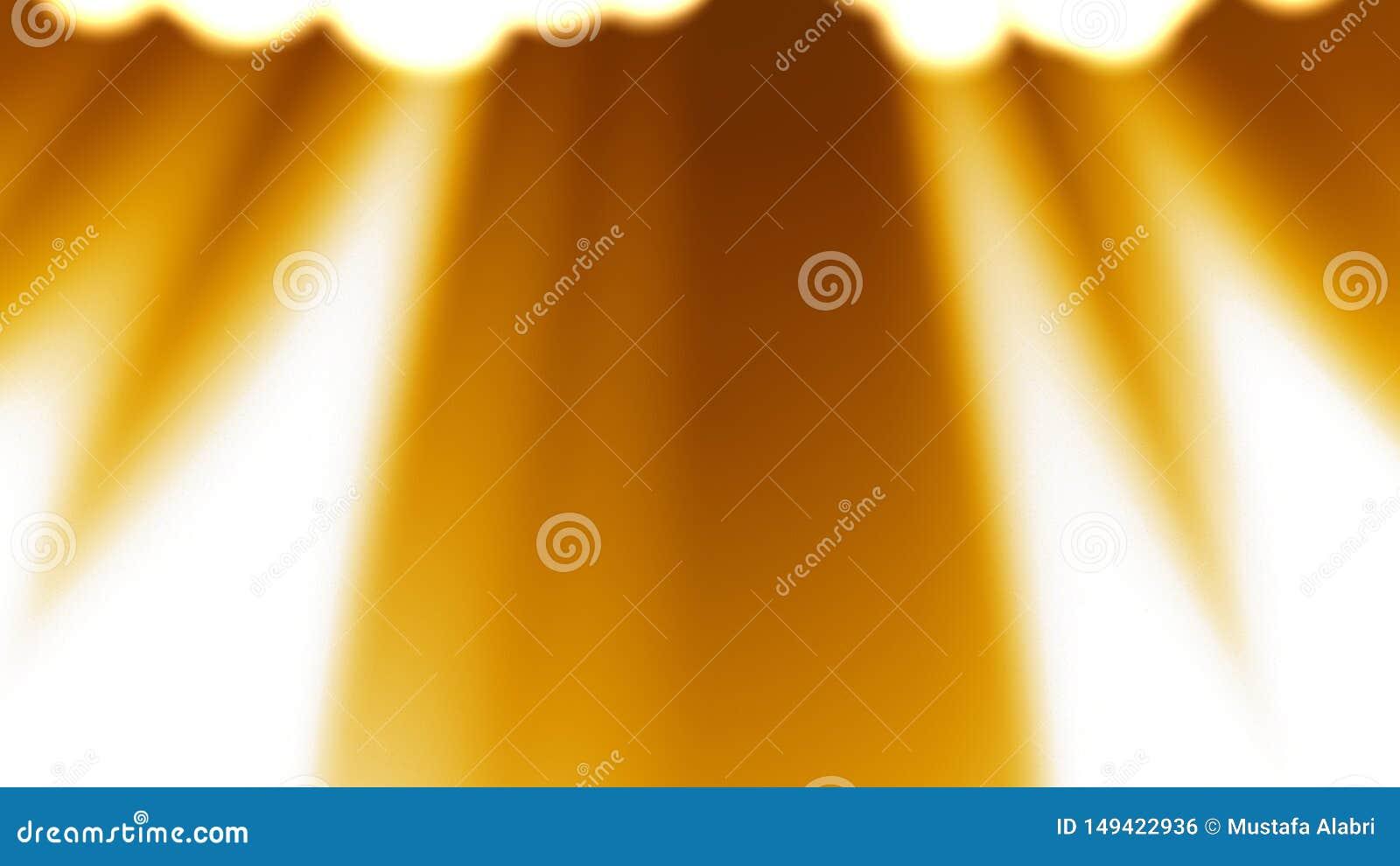 Χρυσό ελαφρύ υπόβαθρο ακτίνων