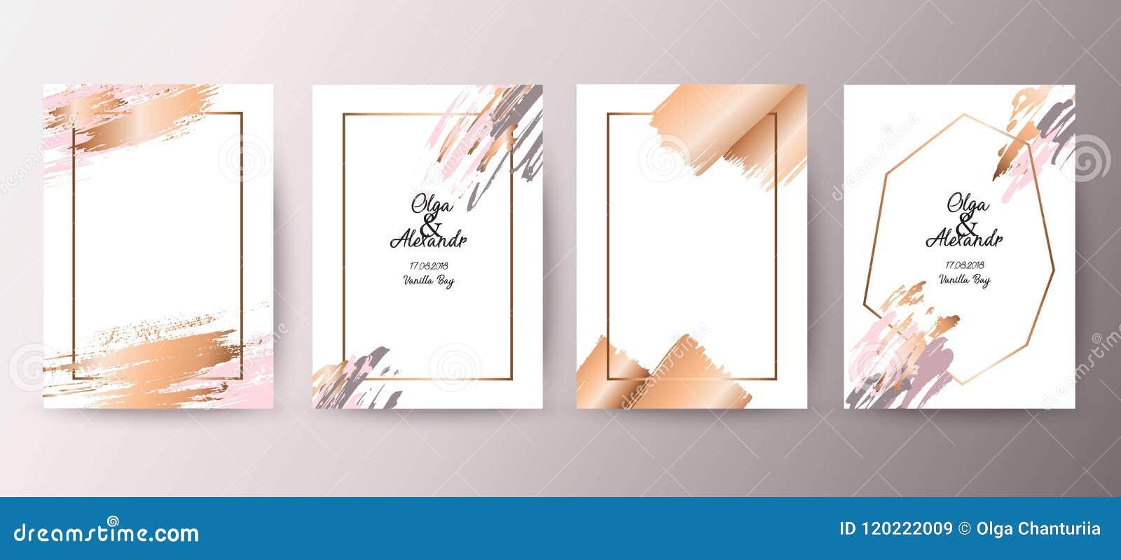 Χρυσό, ρόδινο φυλλάδιο, ιπτάμενο, πρόσκληση, κάρτα