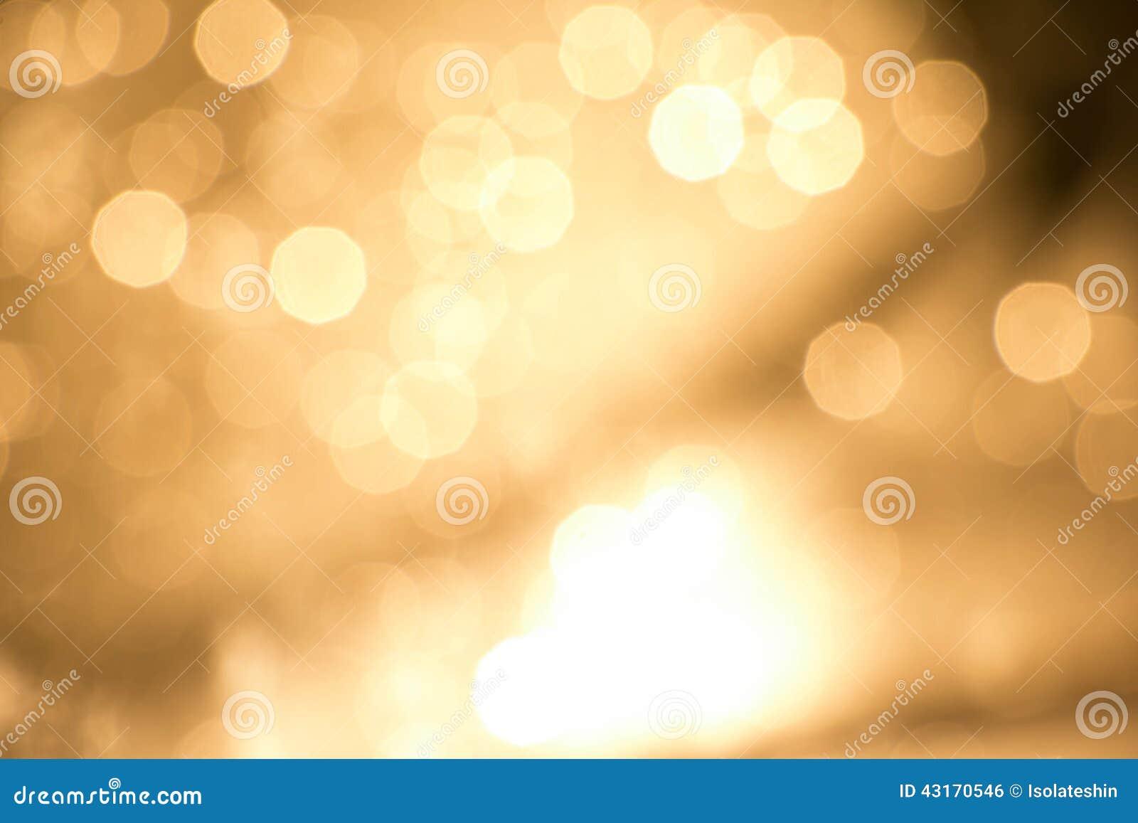Χρυσό φως bokeh bakground