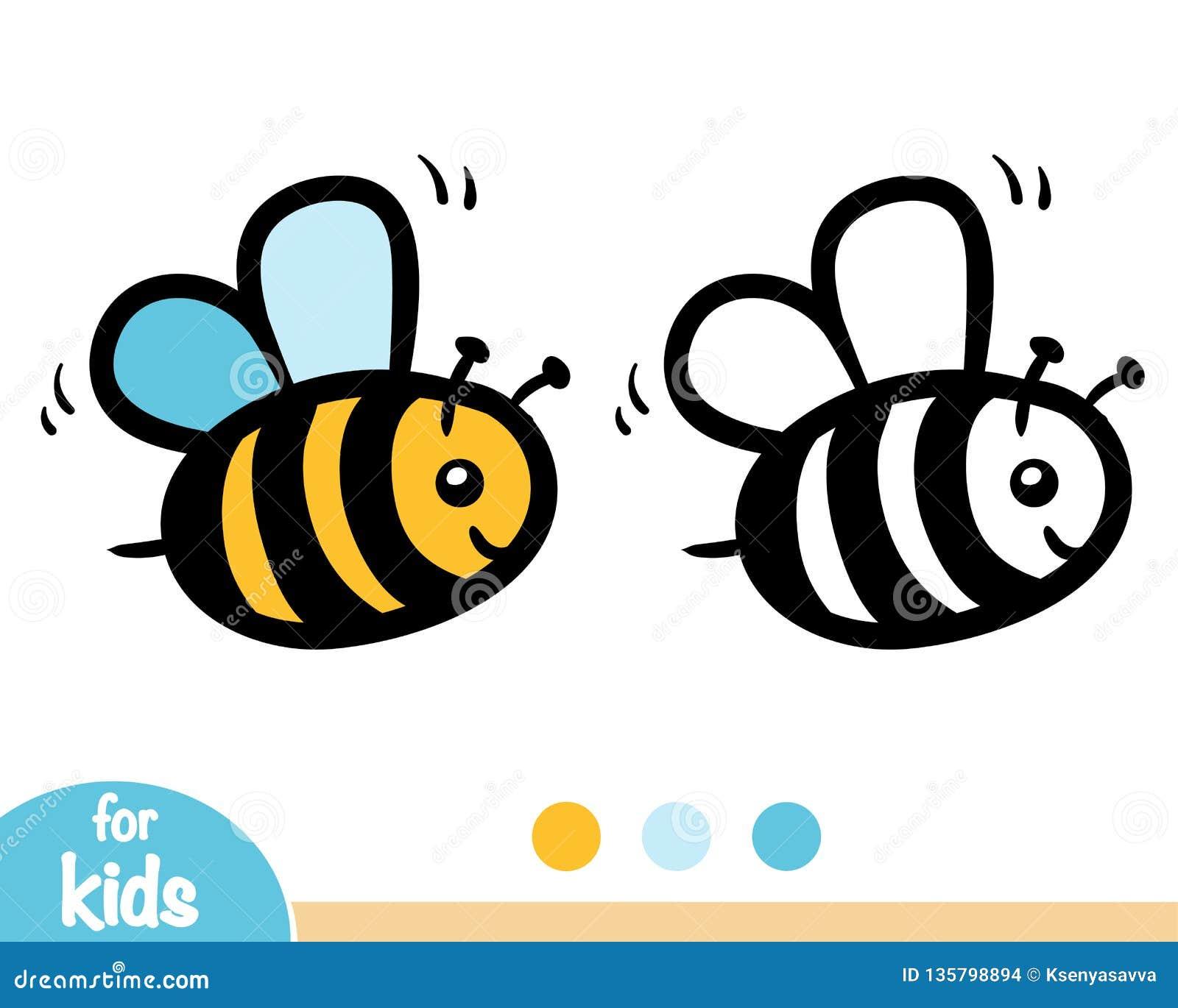 Χρωματίζοντας βιβλίο, μέλισσα