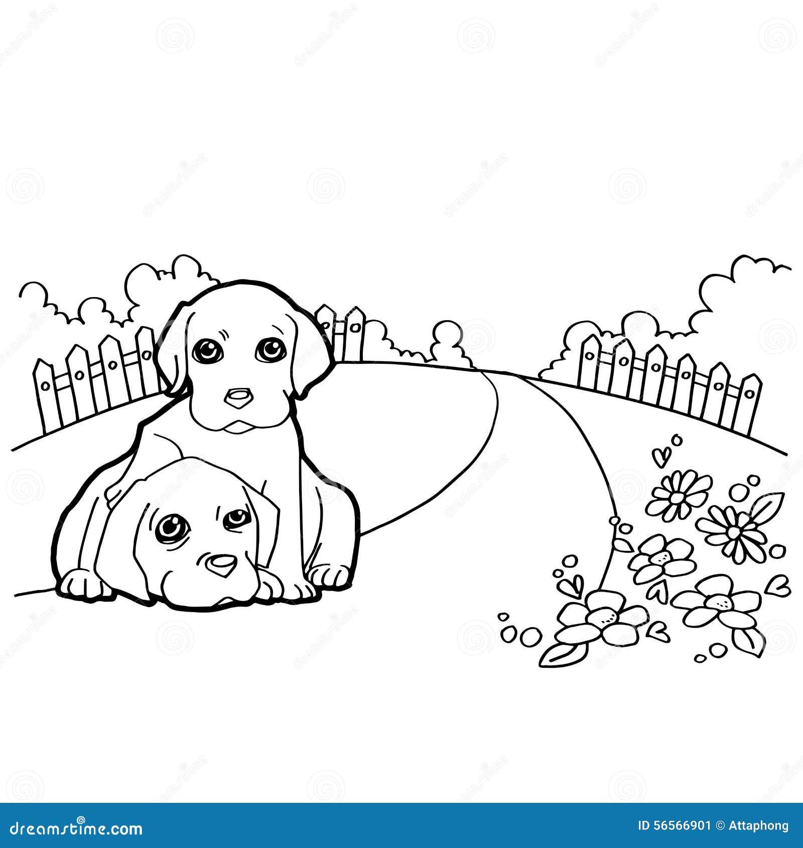 Download Χρωματίζοντας βιβλίο με το σκυλί Διανυσματική απεικόνιση - εικονογραφία από arroyos, χρώμα: 56566901