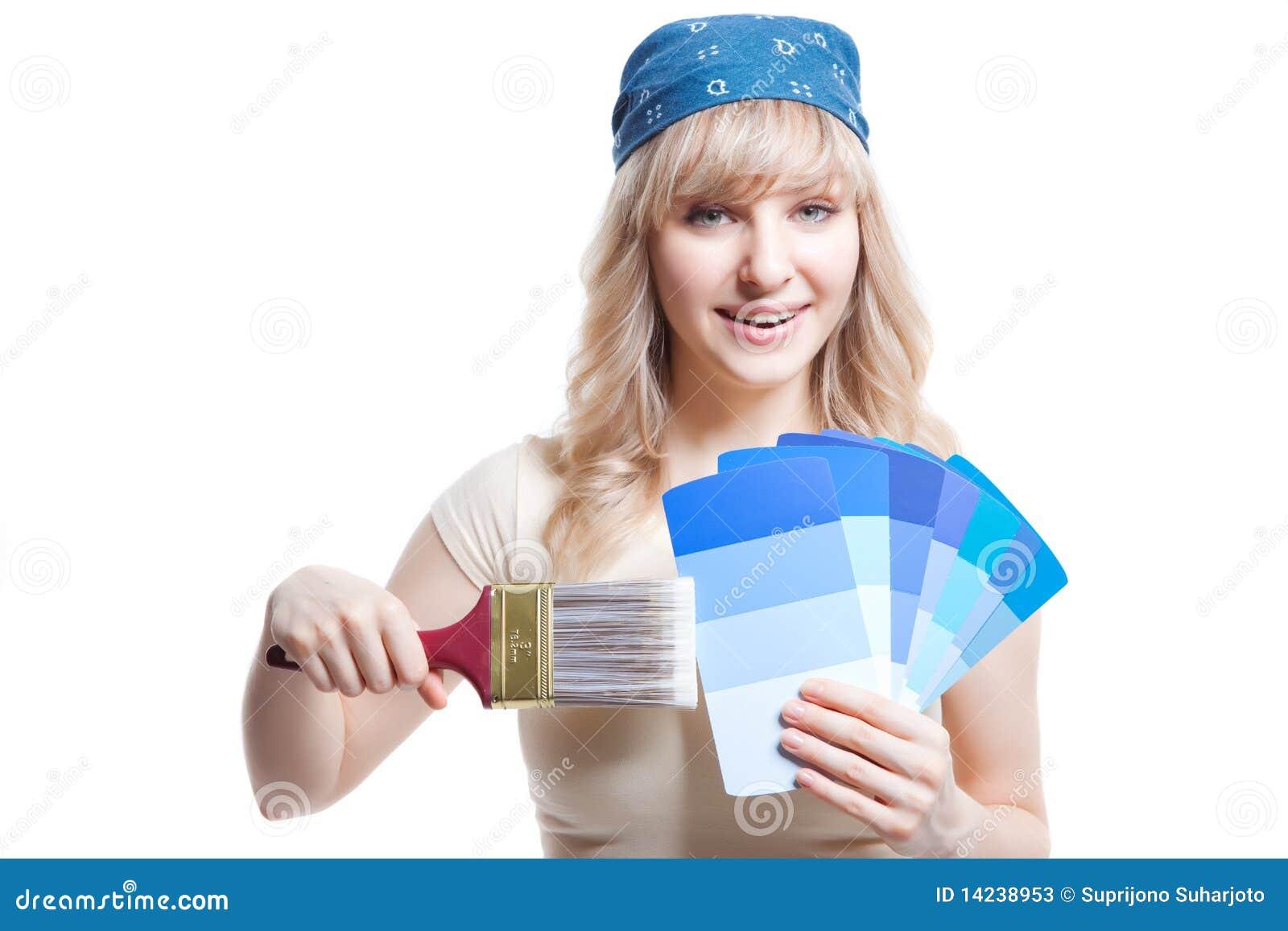 Χρωματίζοντας γυναίκα