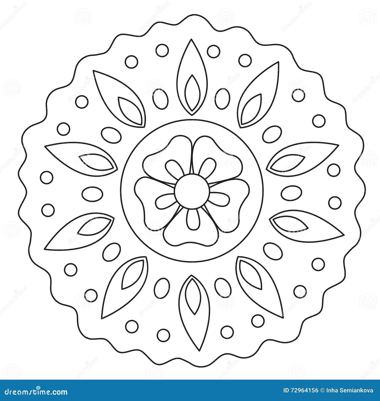 Χρωματίζοντας κύμα Floral Mandala