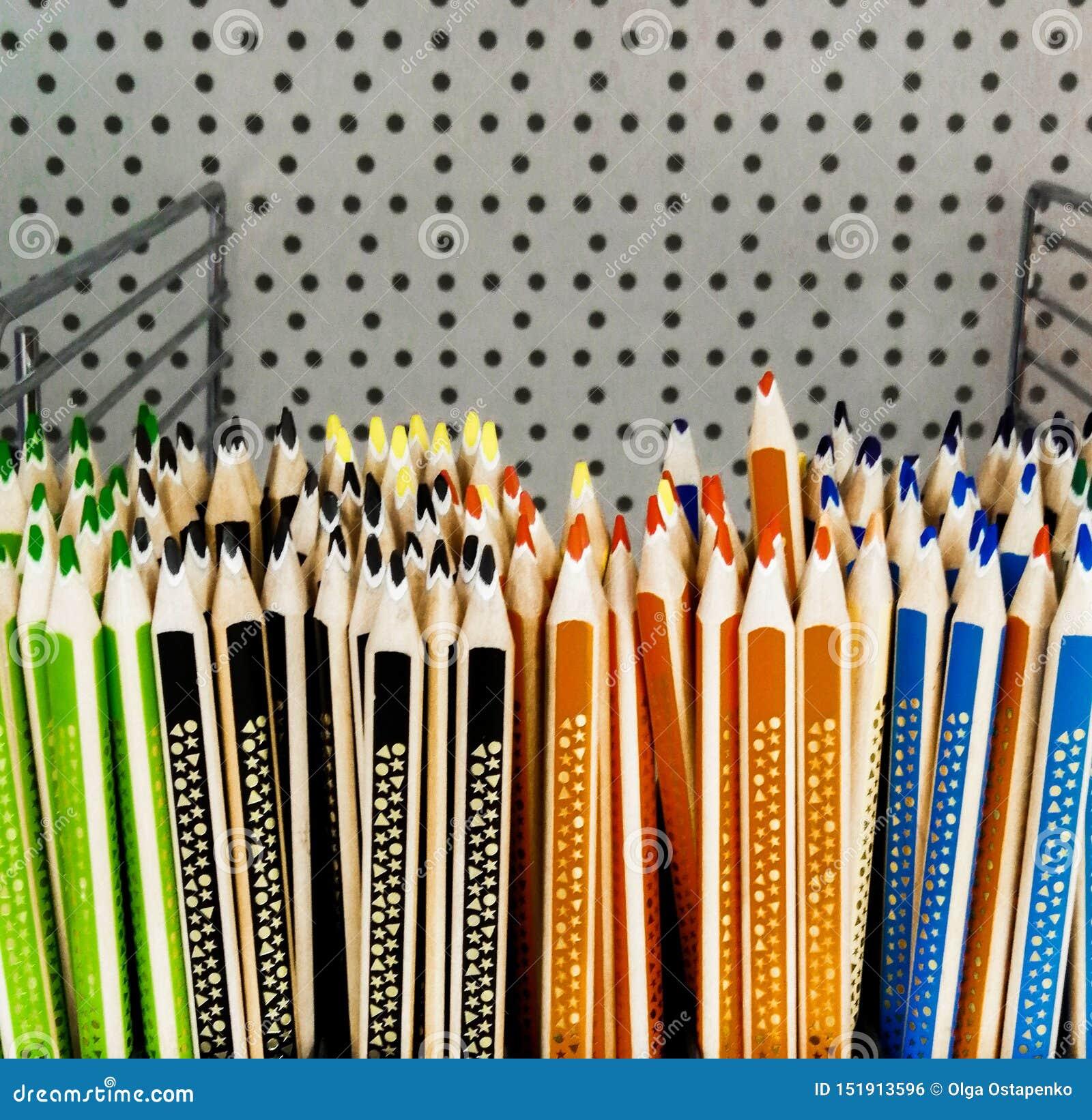 Χρωματισμένα μολύβια για το πορτοκαλί μπλε μολυβιών πώλησης