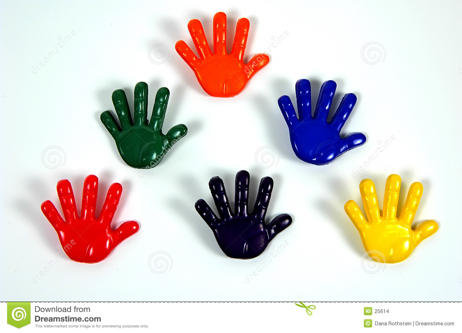 χρωματισμένα χέρια