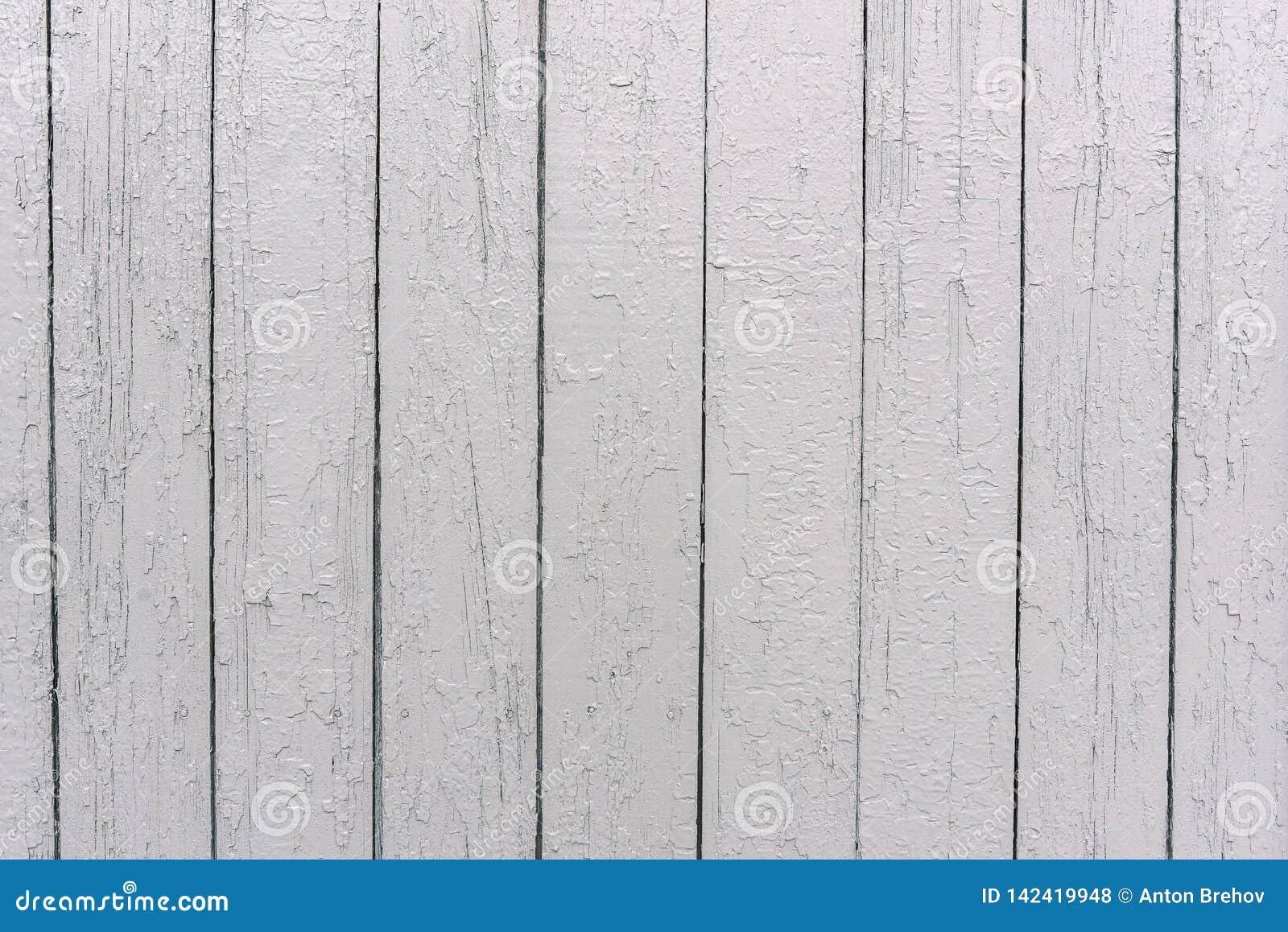 Άσπρος ξύλινος φράκτης Η επιφάνεια του δέντρου Χρωματισμένοι πίνακες στο άσπρο χρώμα Ανώμαλη σύσταση Ξύλινο υπόβαθρο σύστασης