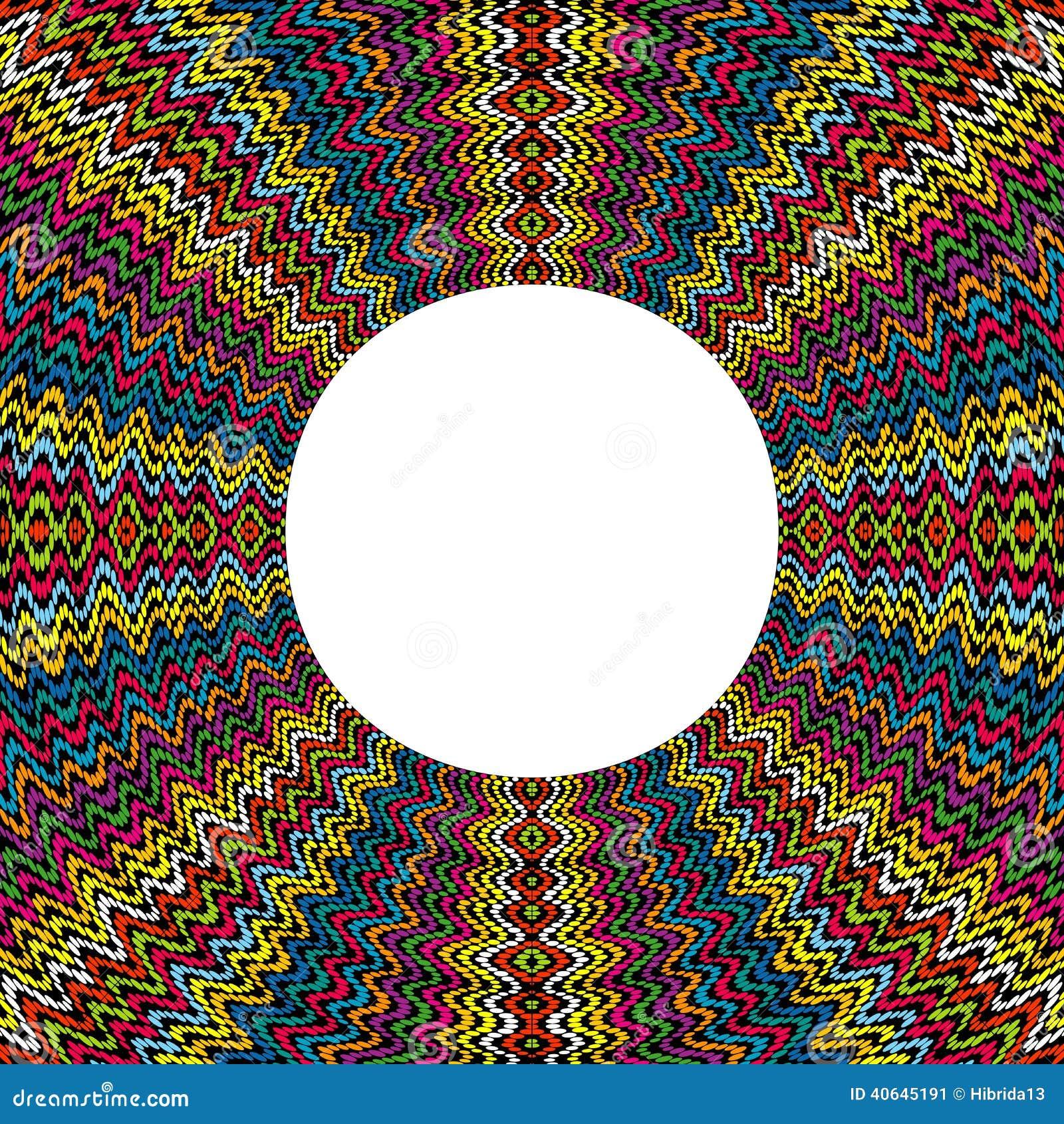 Χρωματισμένος γύρω από το πλαίσιο φιαγμένο από σημεία με τη θέση για το κείμενο