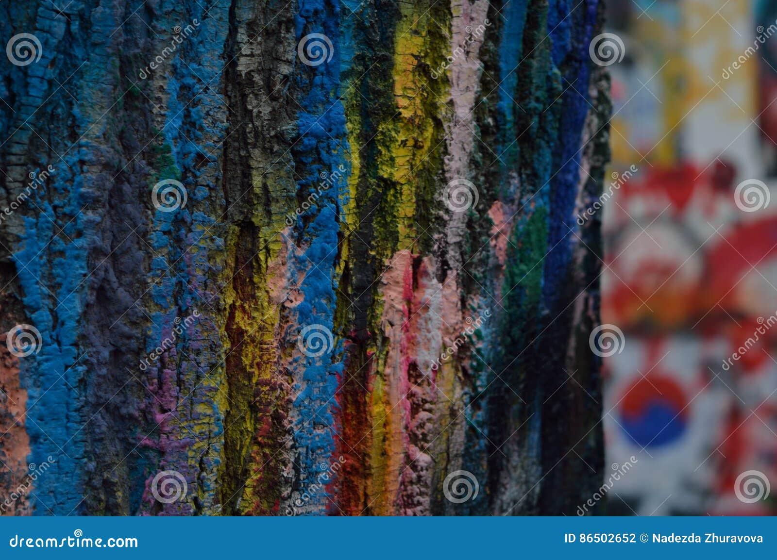 Χρωματισμένος φλοιός του δέντρου
