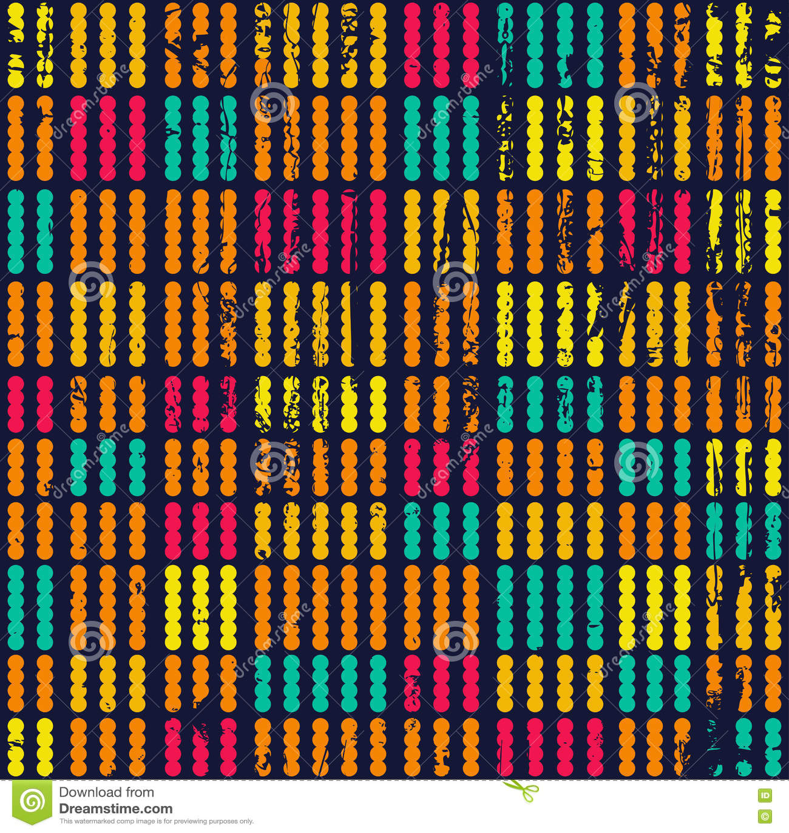 Χρωματισμένο άνευ ραφής σχέδιο σημείων με τη σύσταση grunge