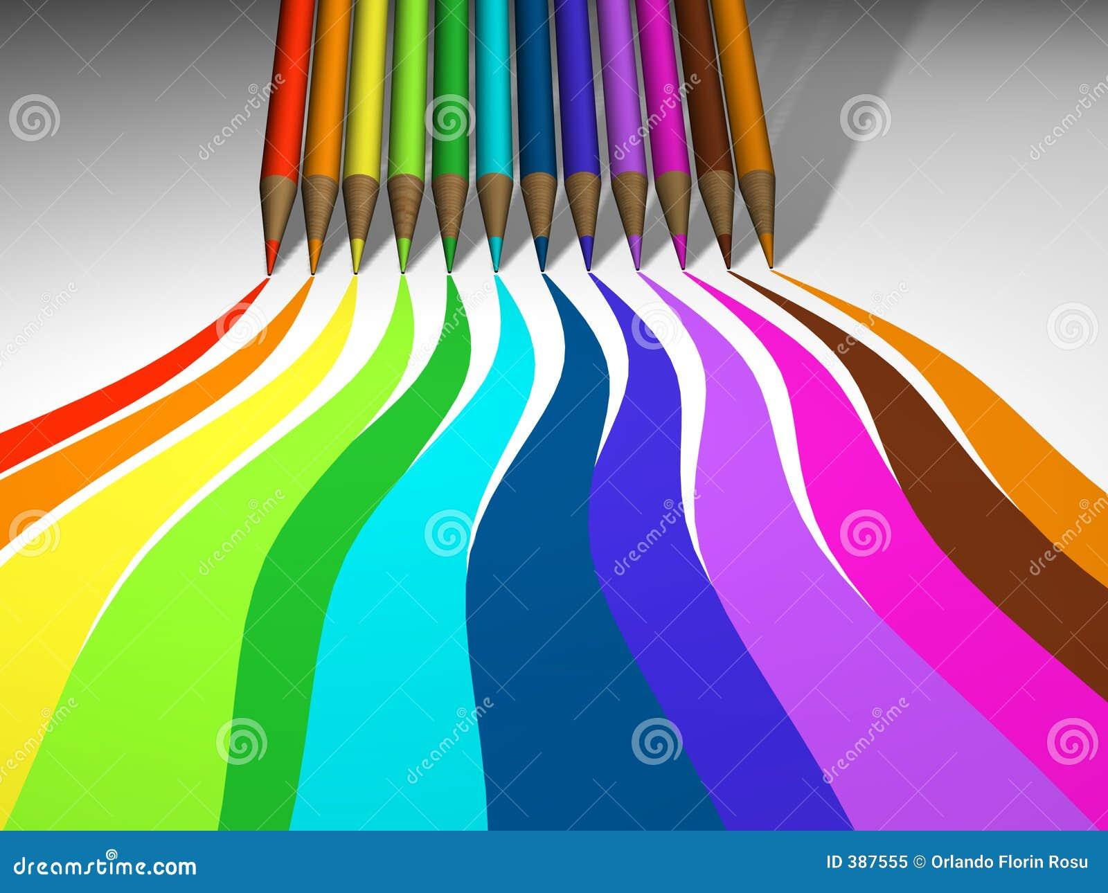 χρωματισμένο μολύβι