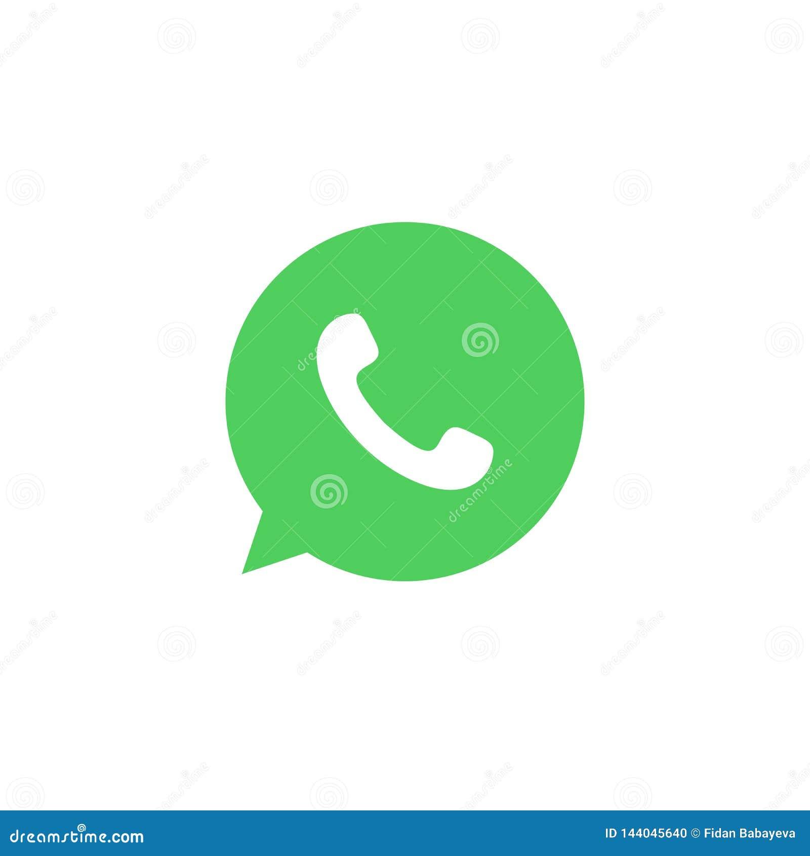 Χρωματισμένο WhatsApp εικονίδιο Στοιχείο του κοινωνικού εικονιδίου απεικόνισης λογότυπων MEDIA Τα σημάδια και τα σύμβολα μπορούν