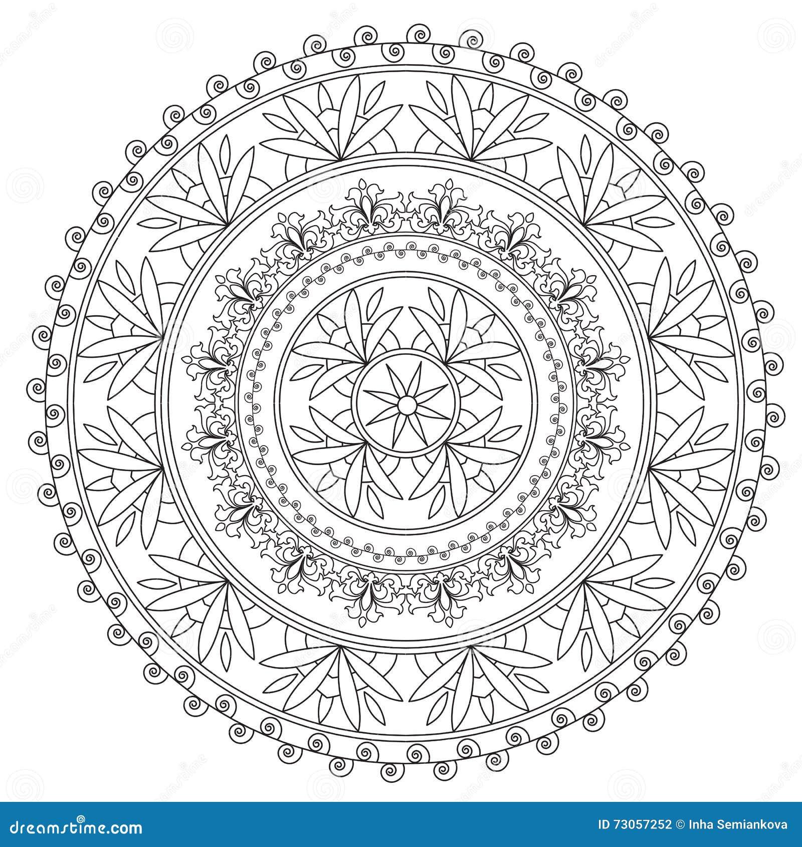 Χρωματισμός μαύρο εθνικό Mandala