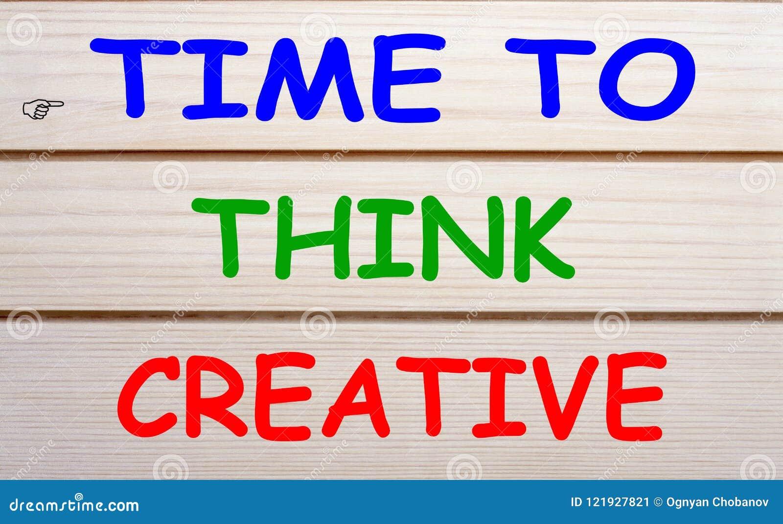 Χρόνος να σκεφτεί δημιουργικός