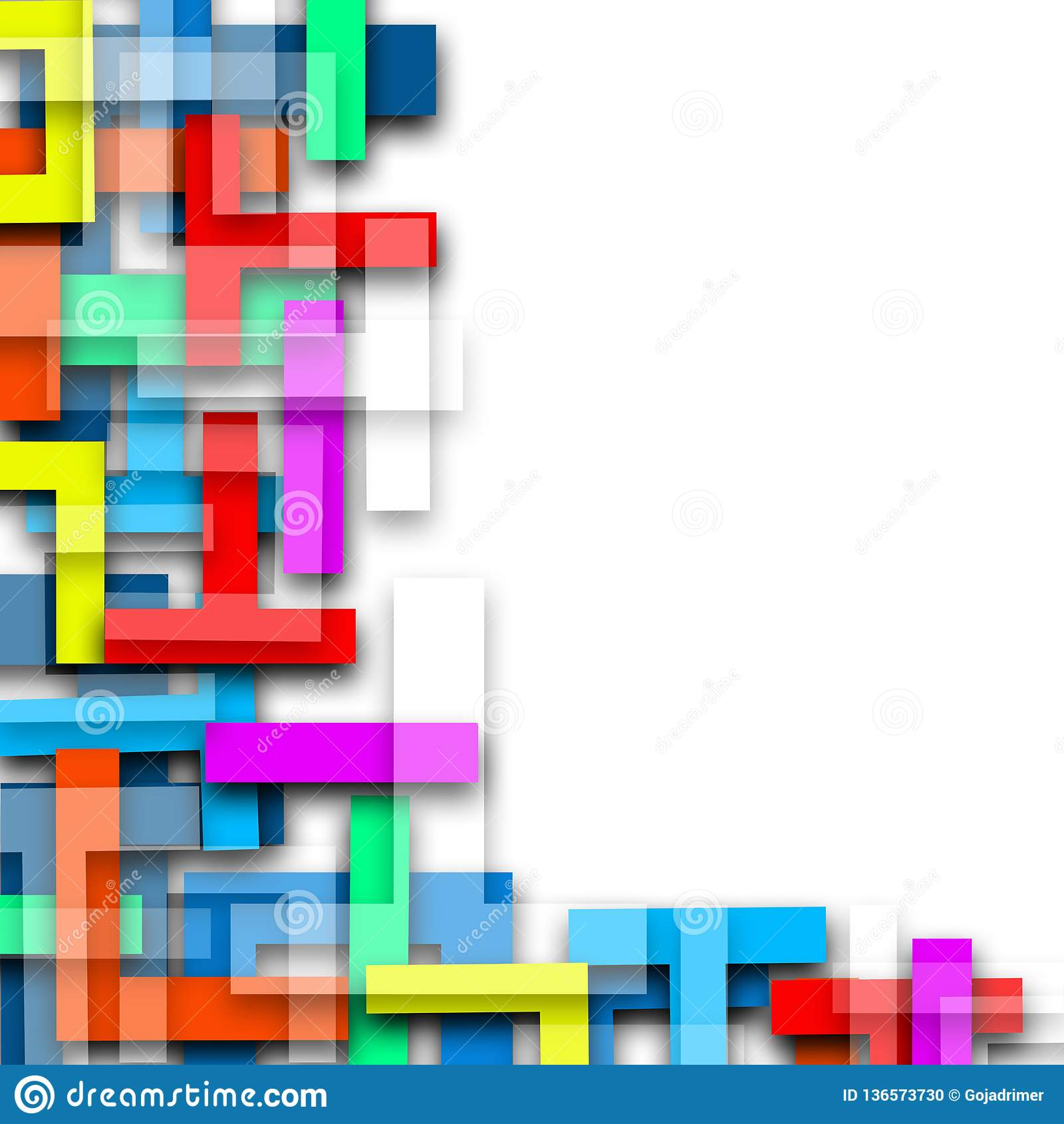 Χρώματος γραμμών ζωηρόχρωμο υπόβαθρο απεικόνισης μωσαϊκών αφηρημένο