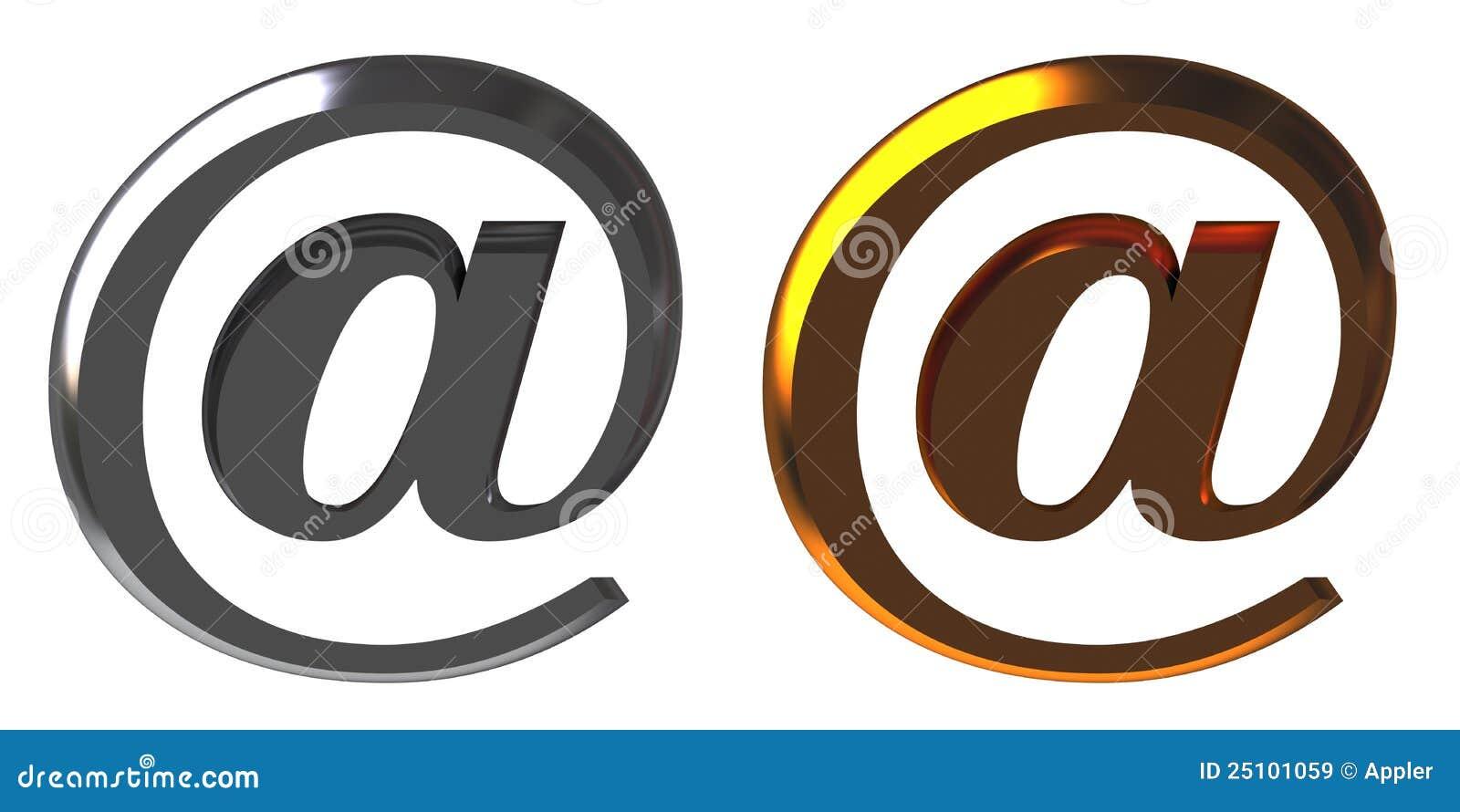 Χρώμιο και χρυσό ηλεκτρονικό ταχυδρομείο αλλιώς
