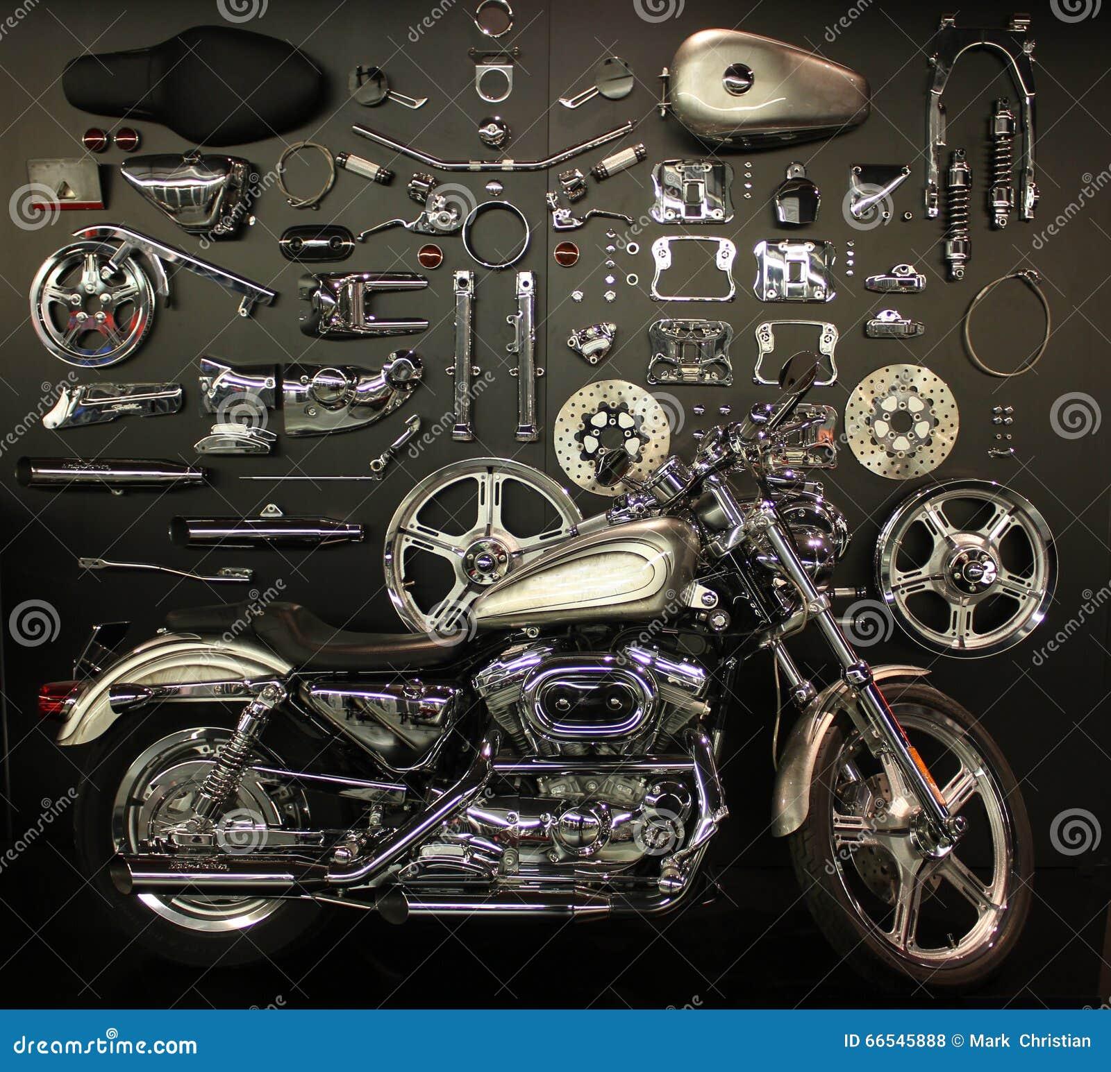Χρώμιο motorcyle και μέρη αντικατάστασης