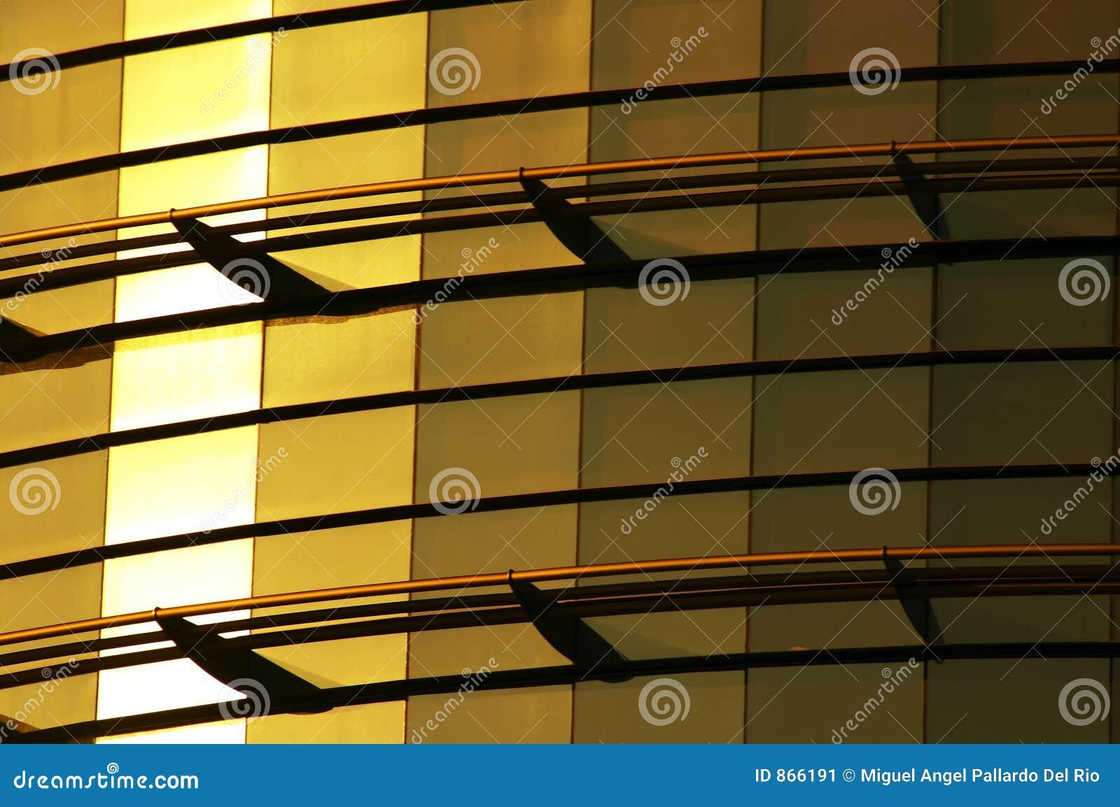 χτίζοντας χρυσός γυαλι&omicr