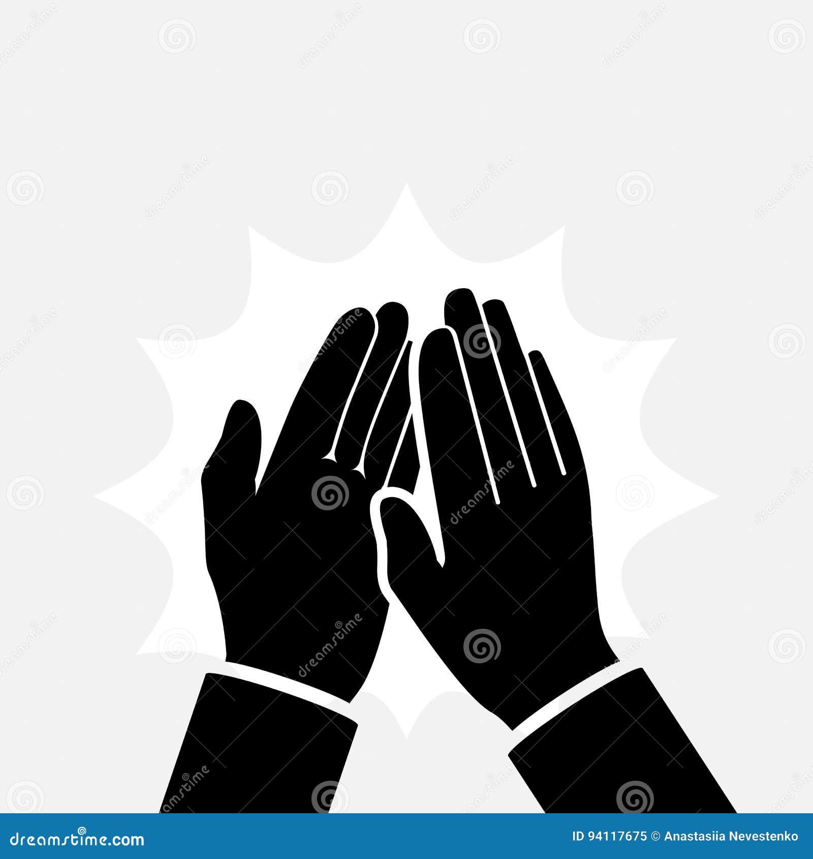 Χτύπημα της σκιαγραφίας εικονιδίων χεριών