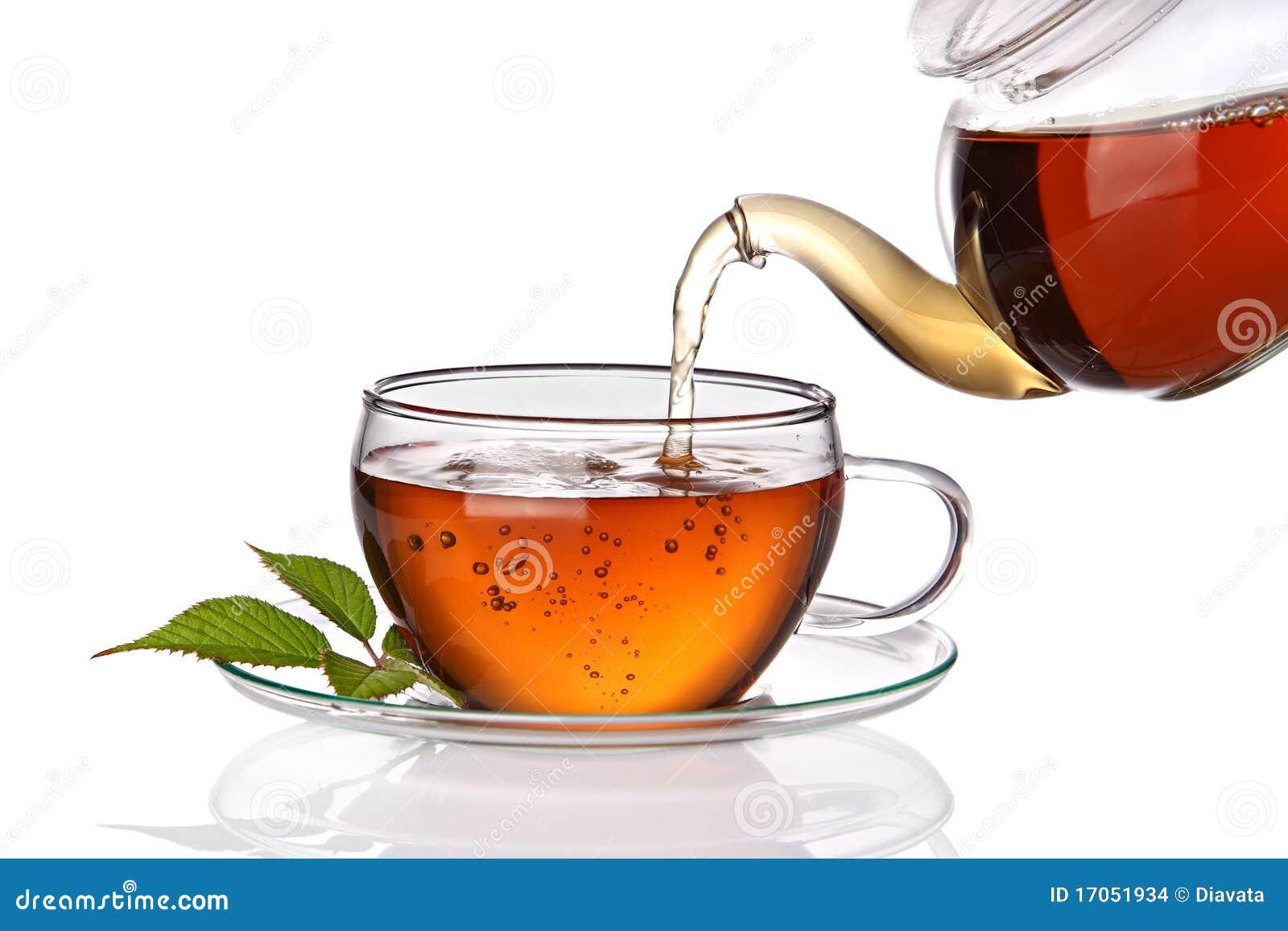 χυμένο φλυτζάνι τσάι