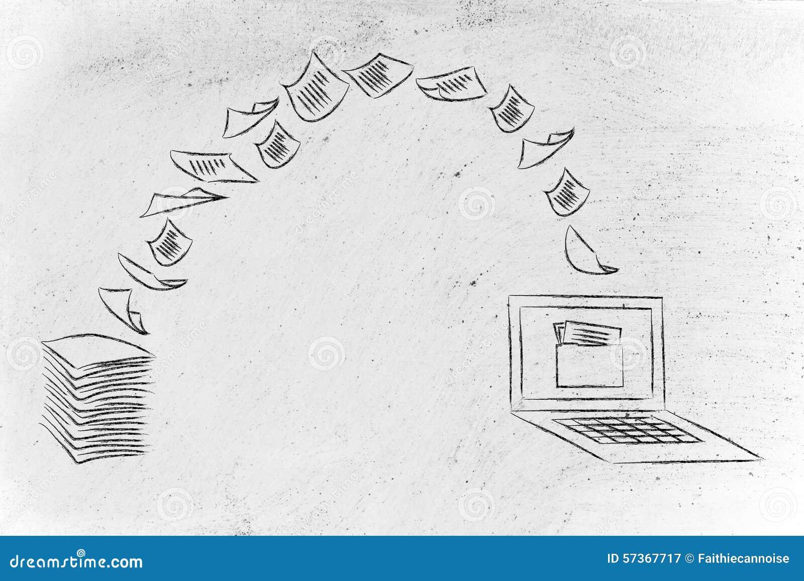 Χωρίς χαρτί γραφείο: έγγραφα ανίχνευσης και έγγραφο στροφής στα στοιχεία