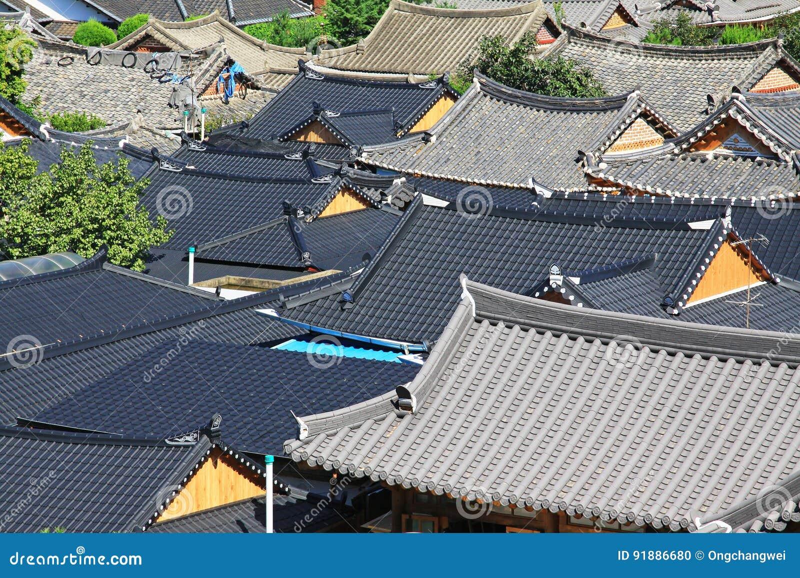 Χωριό της Κορέας Jeonju Hanok
